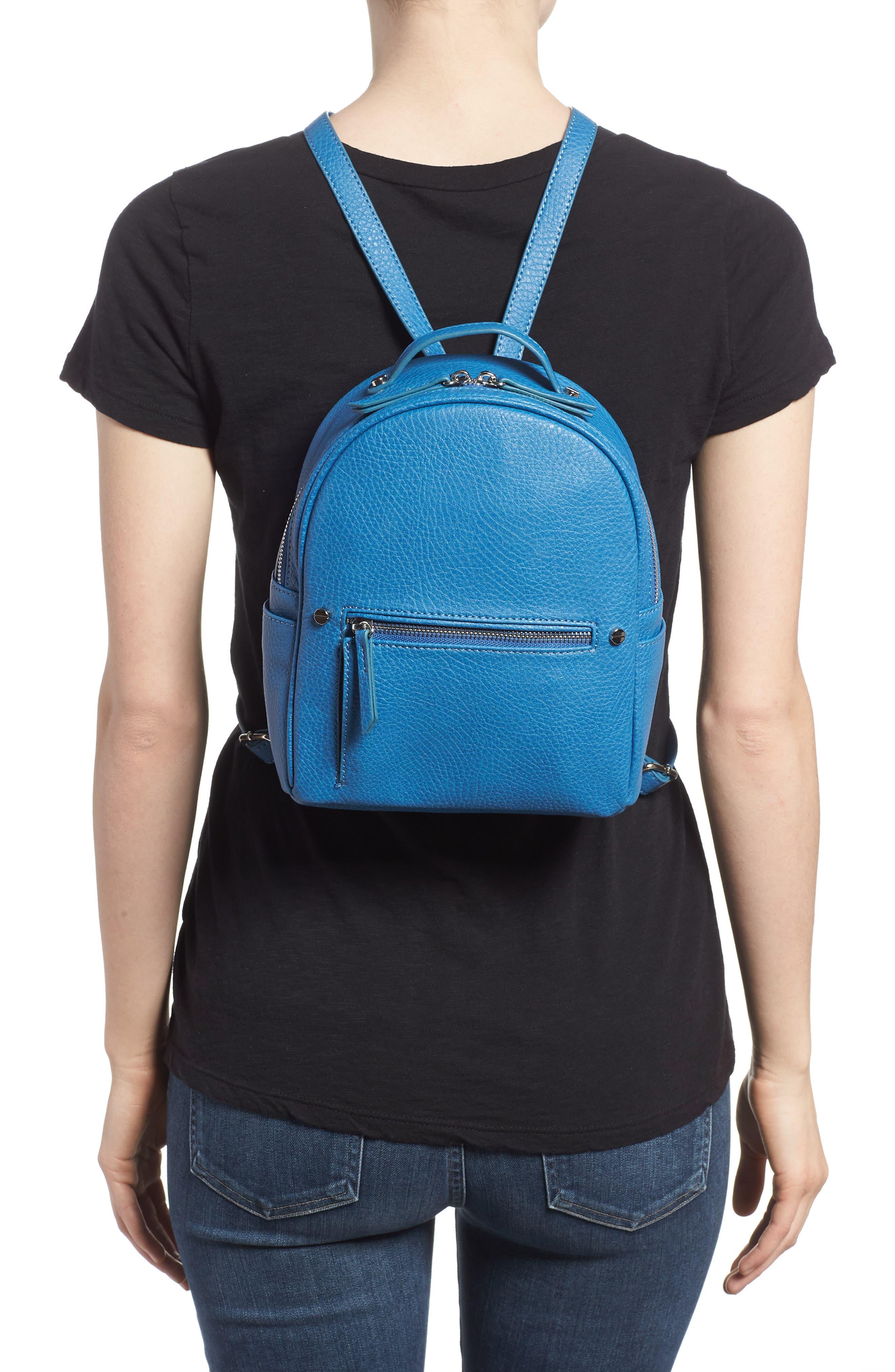 Mali + Lili Hannah Vegan Leather Backpack,                             Alternate thumbnail 2, color,                             FRENCH BLUE