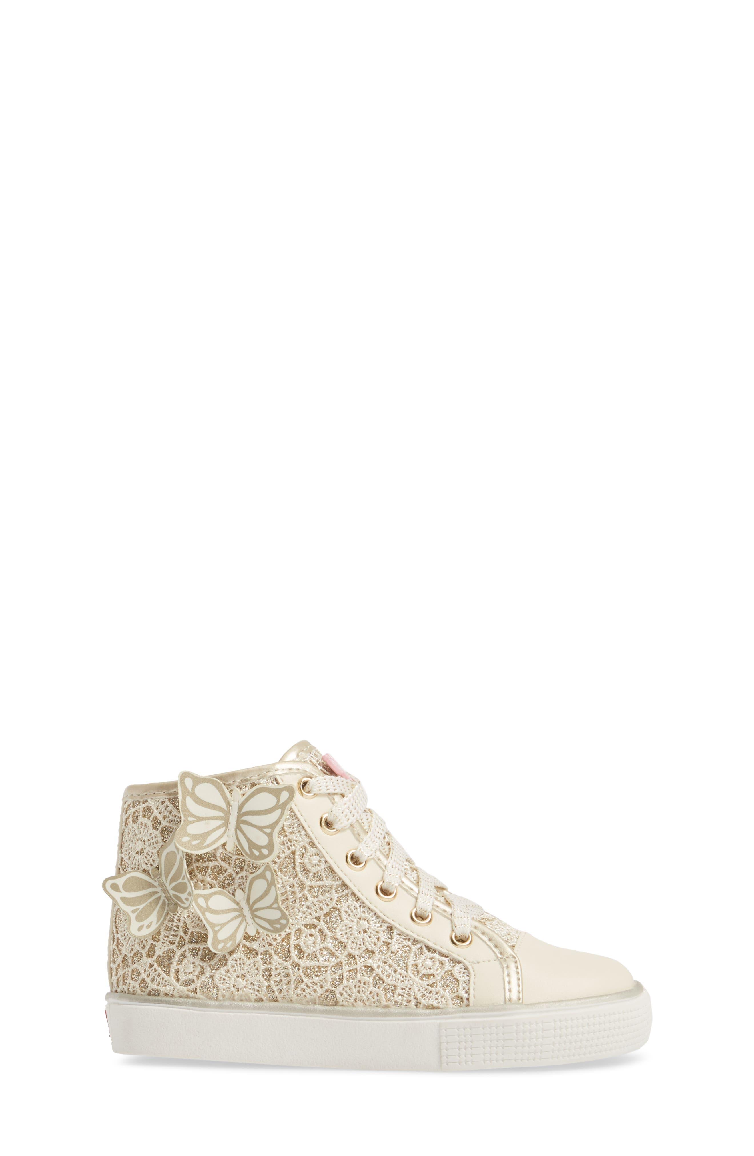 Ashlyn Glitter High Top Sneaker,                             Alternate thumbnail 3, color,                             710