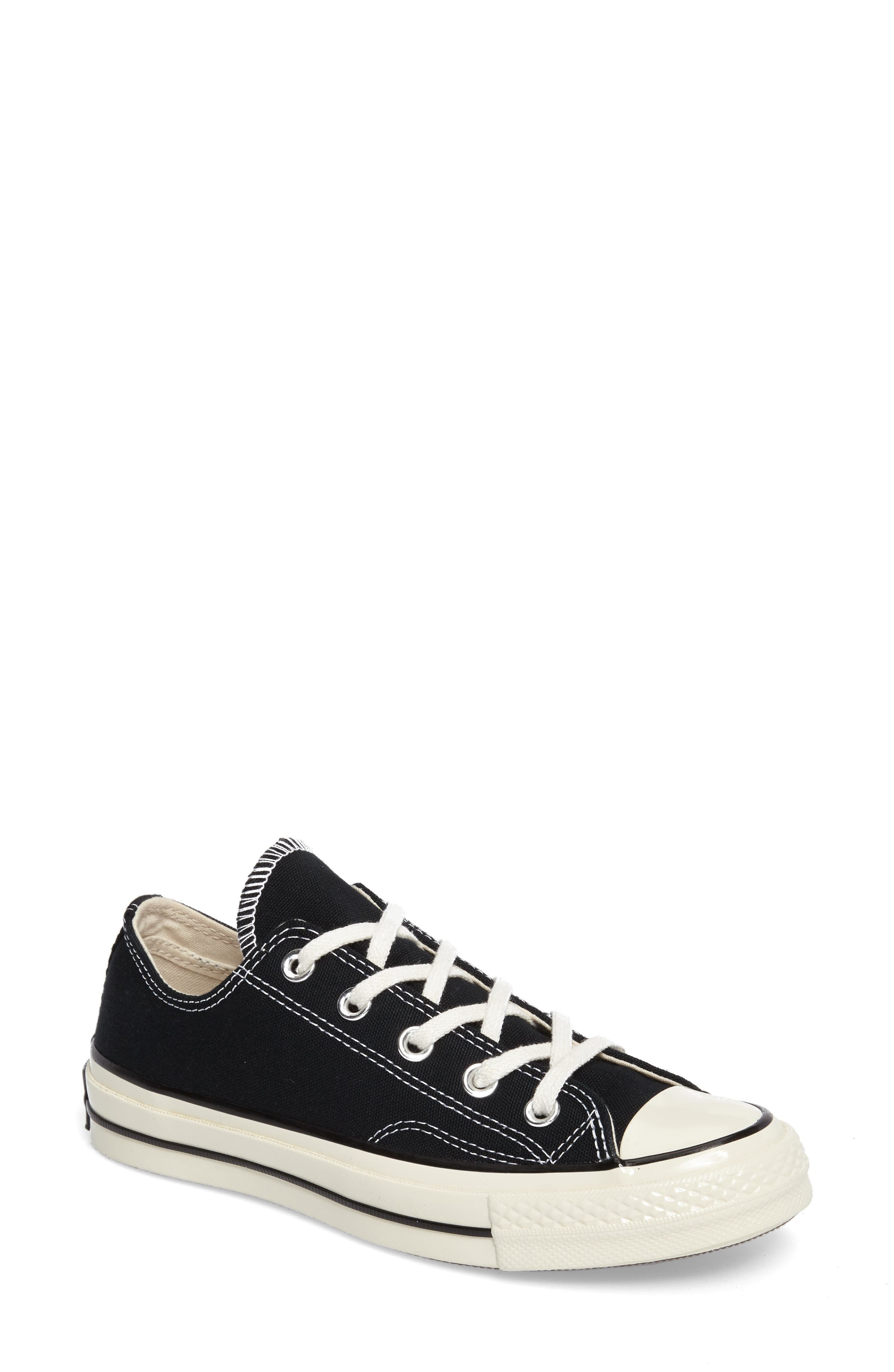 Chuck Taylor<sup>®</sup> All Star<sup>®</sup> Ox Low Top Sneaker,                             Main thumbnail 1, color,                             BLACK