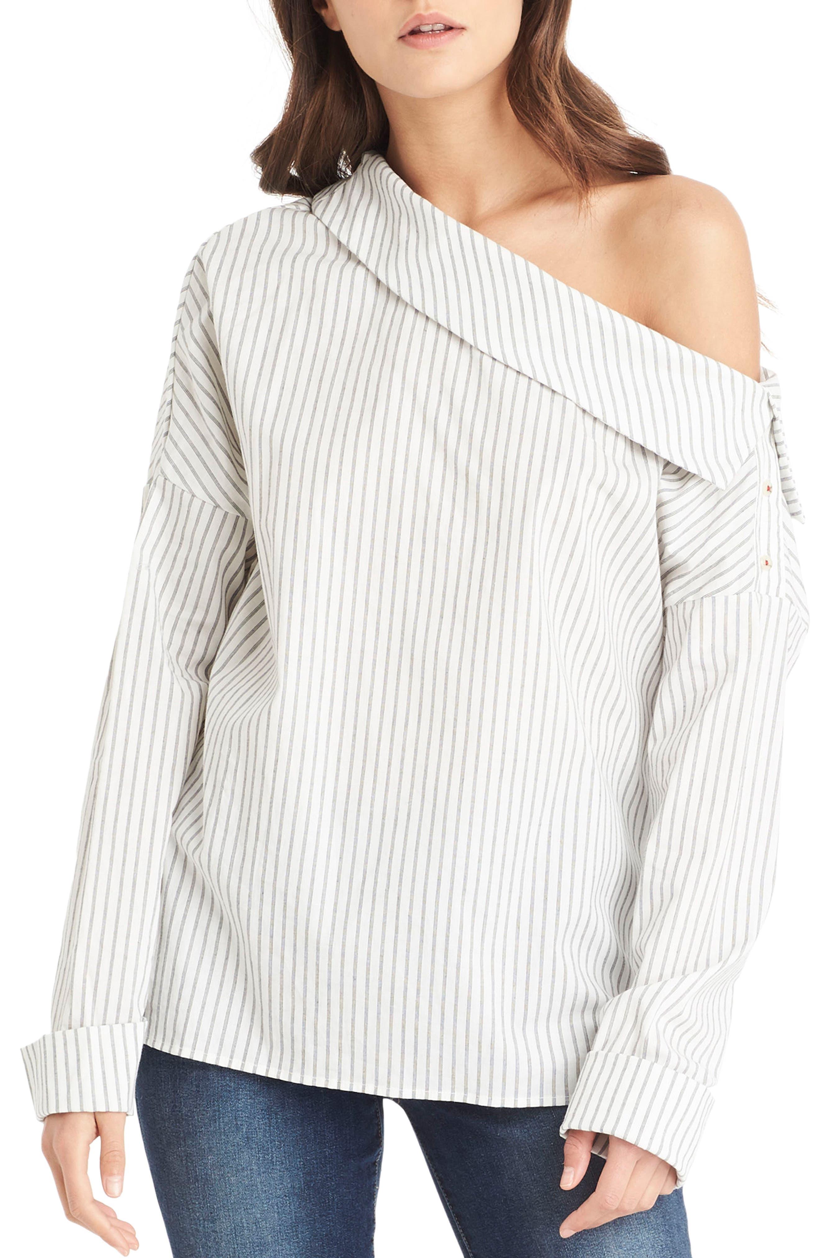 One-Shoulder Stripe Top,                         Main,                         color, 020