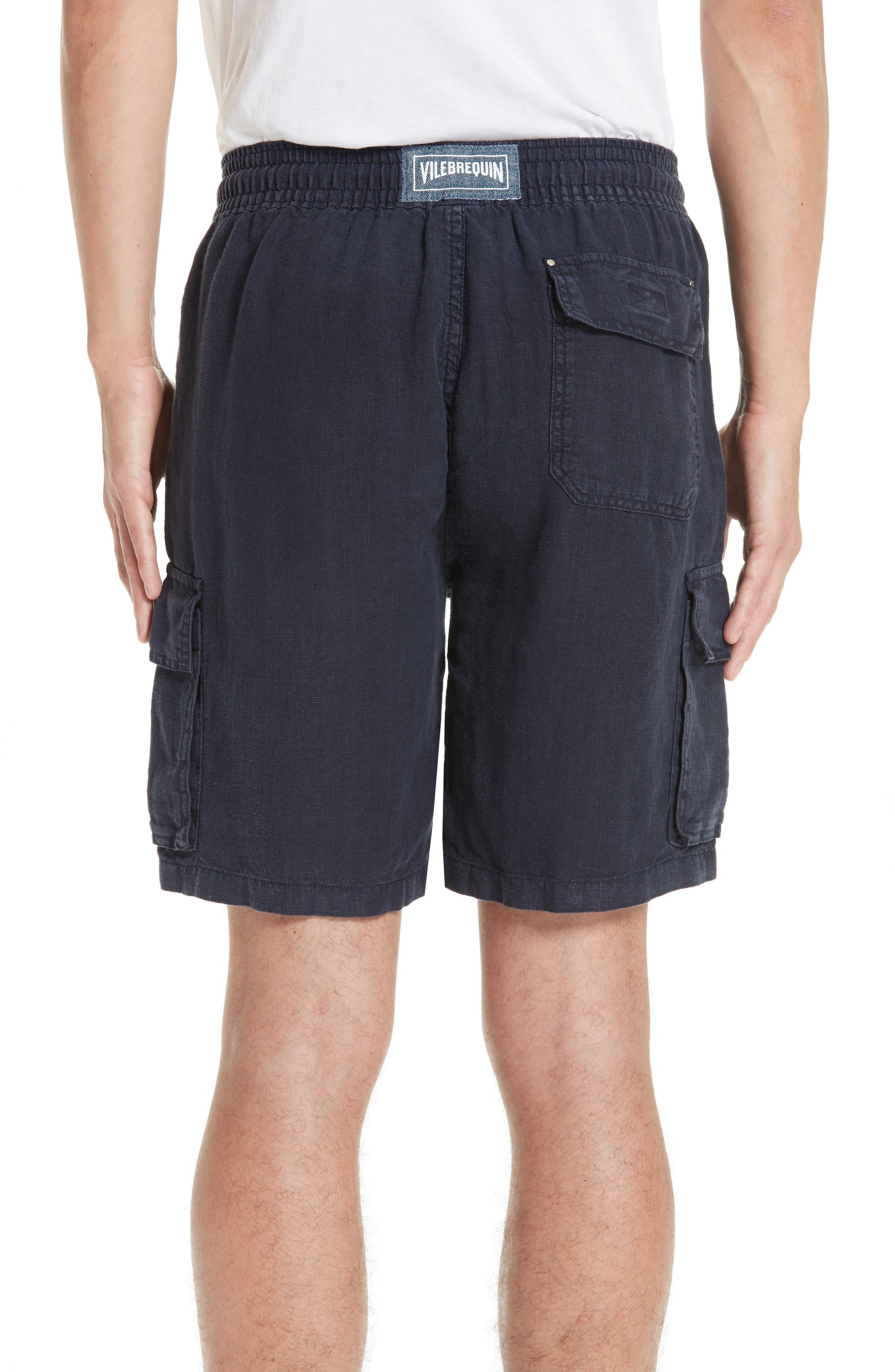 Vilbrequin Linen Cargo Shorts,                             Alternate thumbnail 2, color,                             BLUE