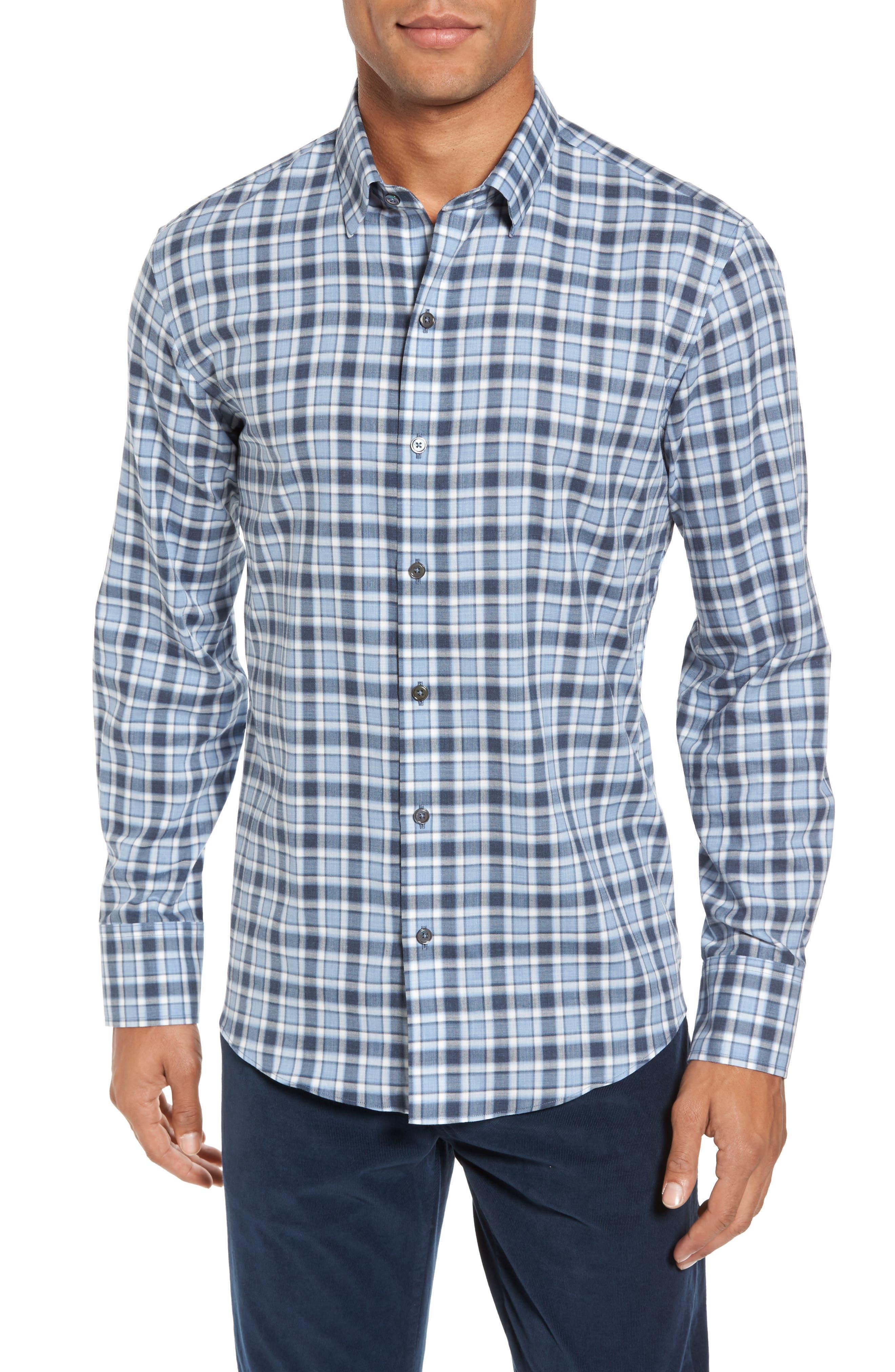 Lobban Slim Fit Check Sport Shirt,                             Main thumbnail 1, color,                             452