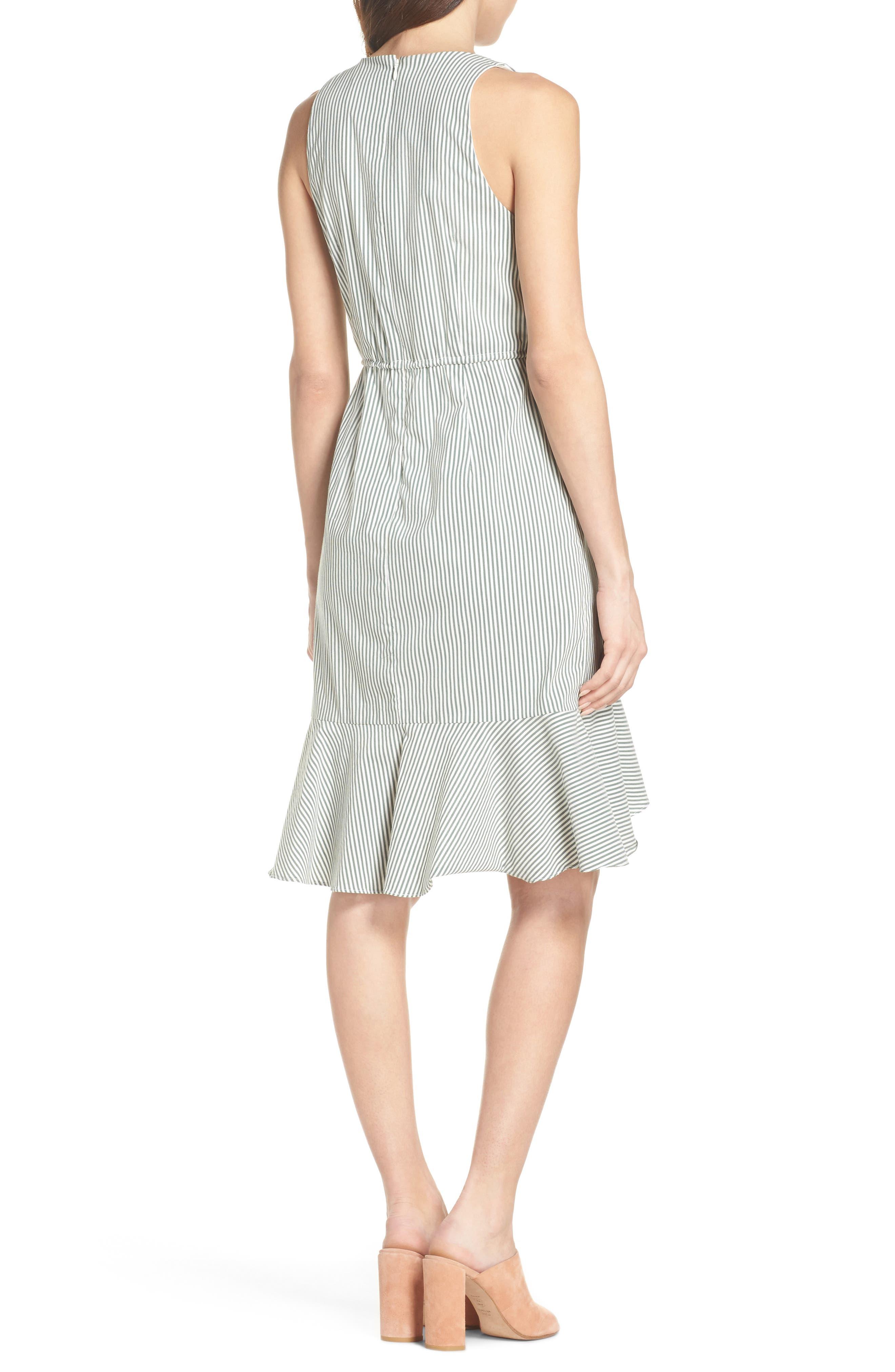 Stripe High/Low Dress,                             Alternate thumbnail 2, color,                             394