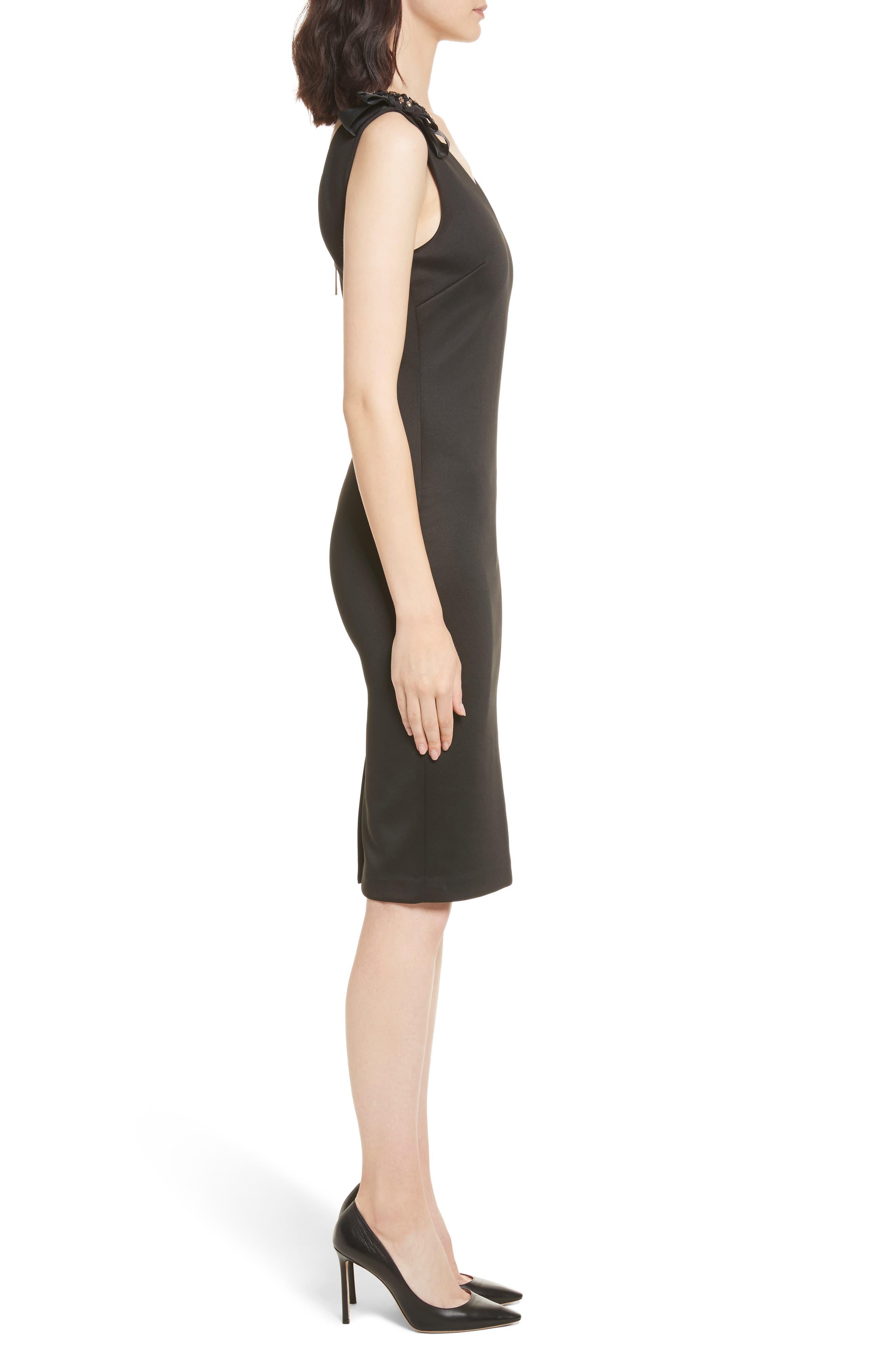 Belliah Bow Shoulder Body-Con Dress,                             Alternate thumbnail 3, color,