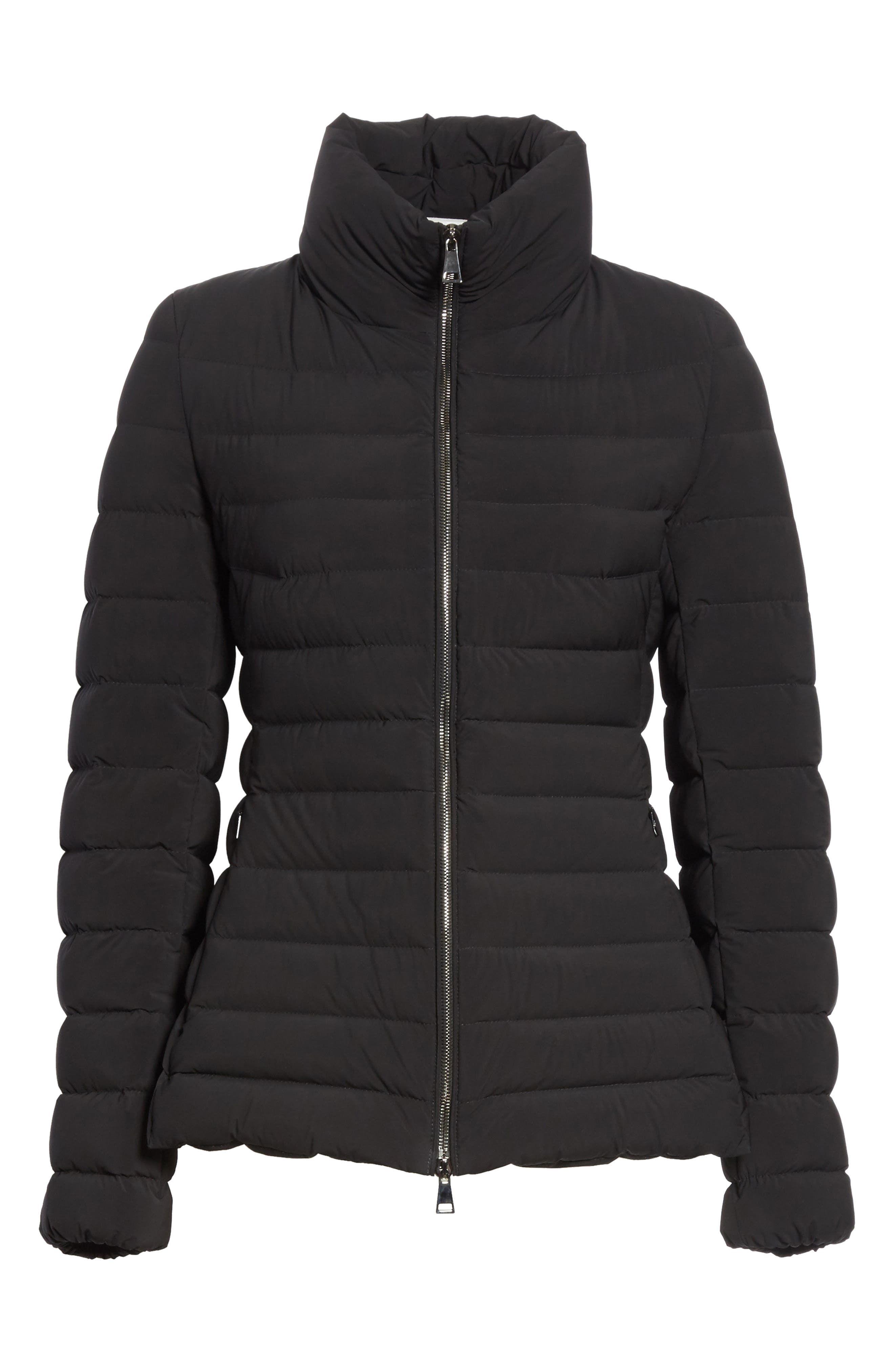 Guillemot Quilted Down Jacket,                             Alternate thumbnail 5, color,                             BLACK