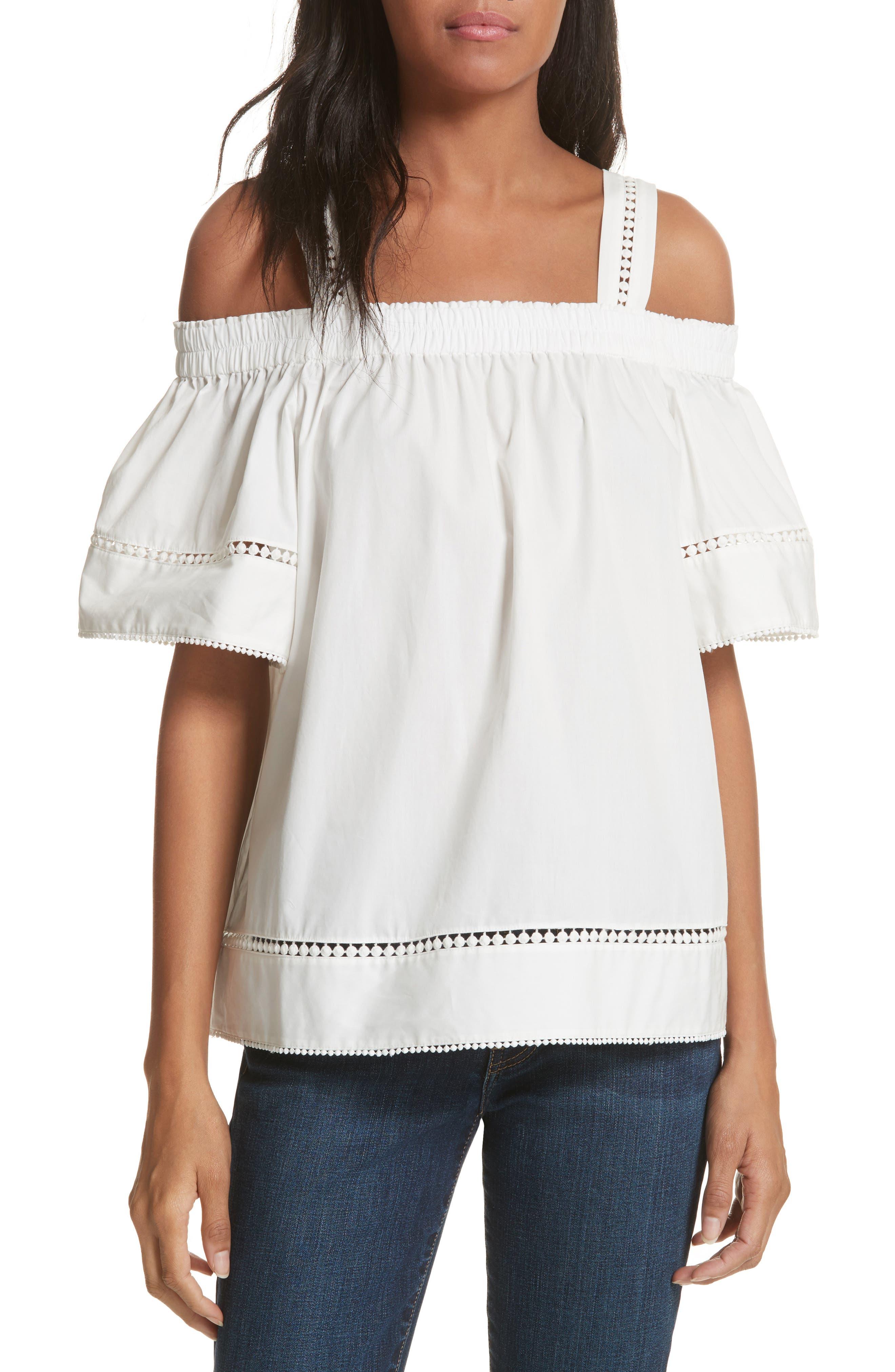 Cold Shoulder Cotton Top,                         Main,                         color, 110