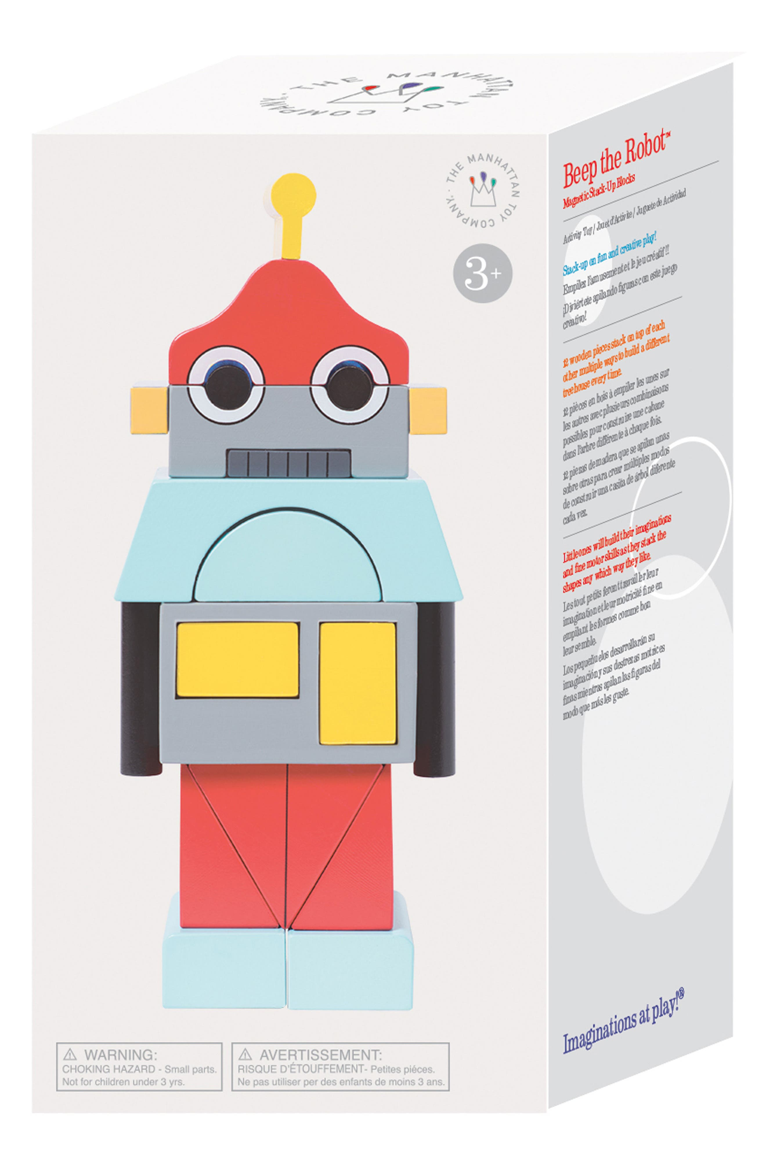 Beep the Robot Magentic Blocks,                             Alternate thumbnail 4, color,                             600