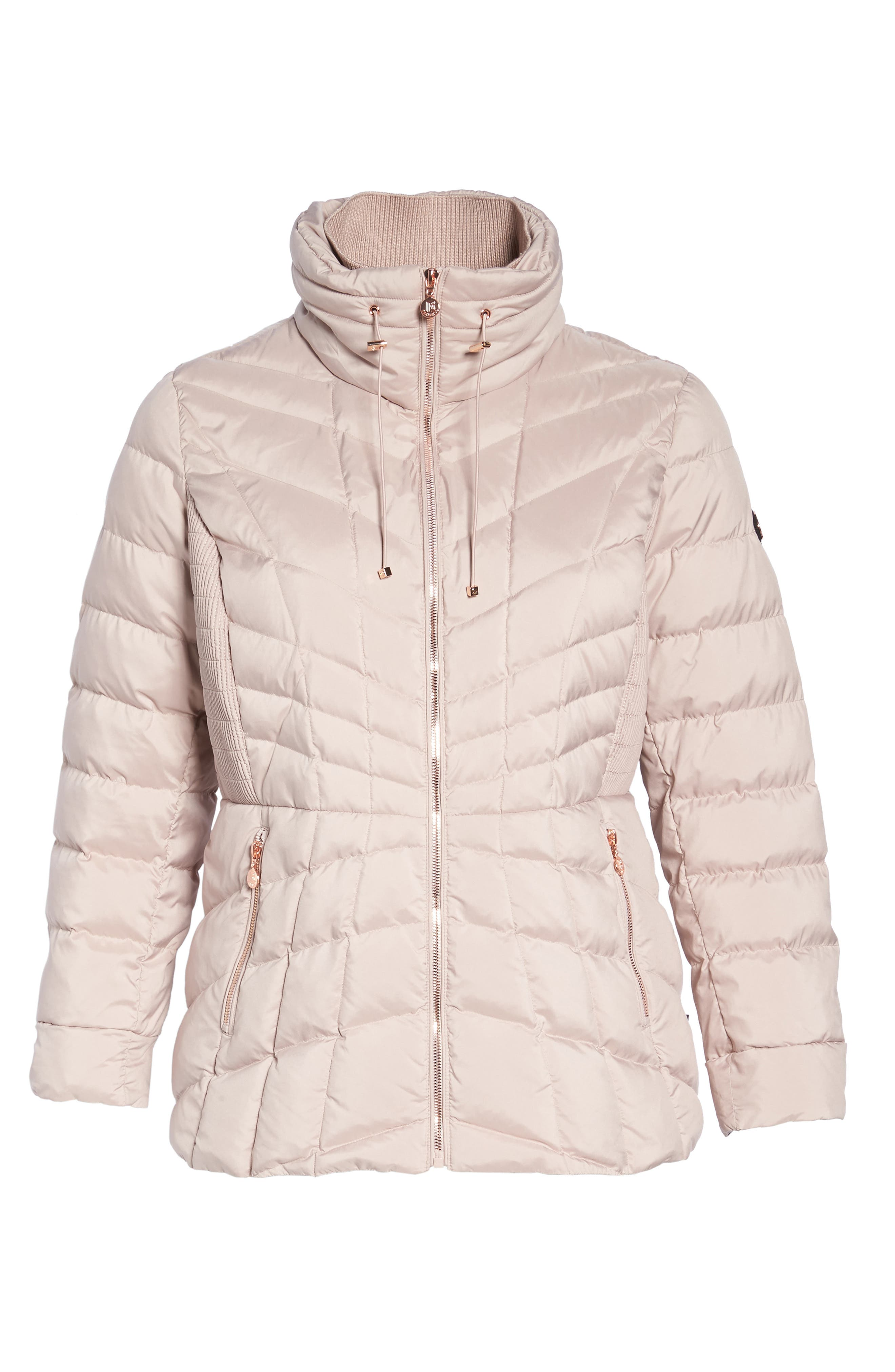 Packable Water Resistant Down & PrimaLoft<sup>®</sup> Coat,                             Alternate thumbnail 10, color,