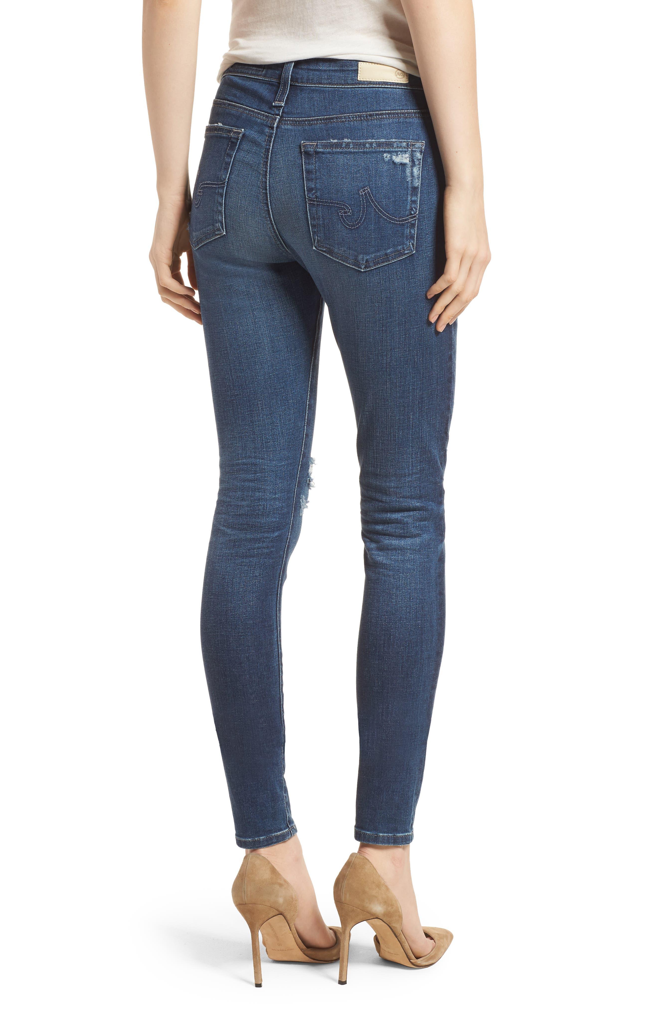 'The Farrah' High Rise Skinny Jeans,                             Alternate thumbnail 14, color,