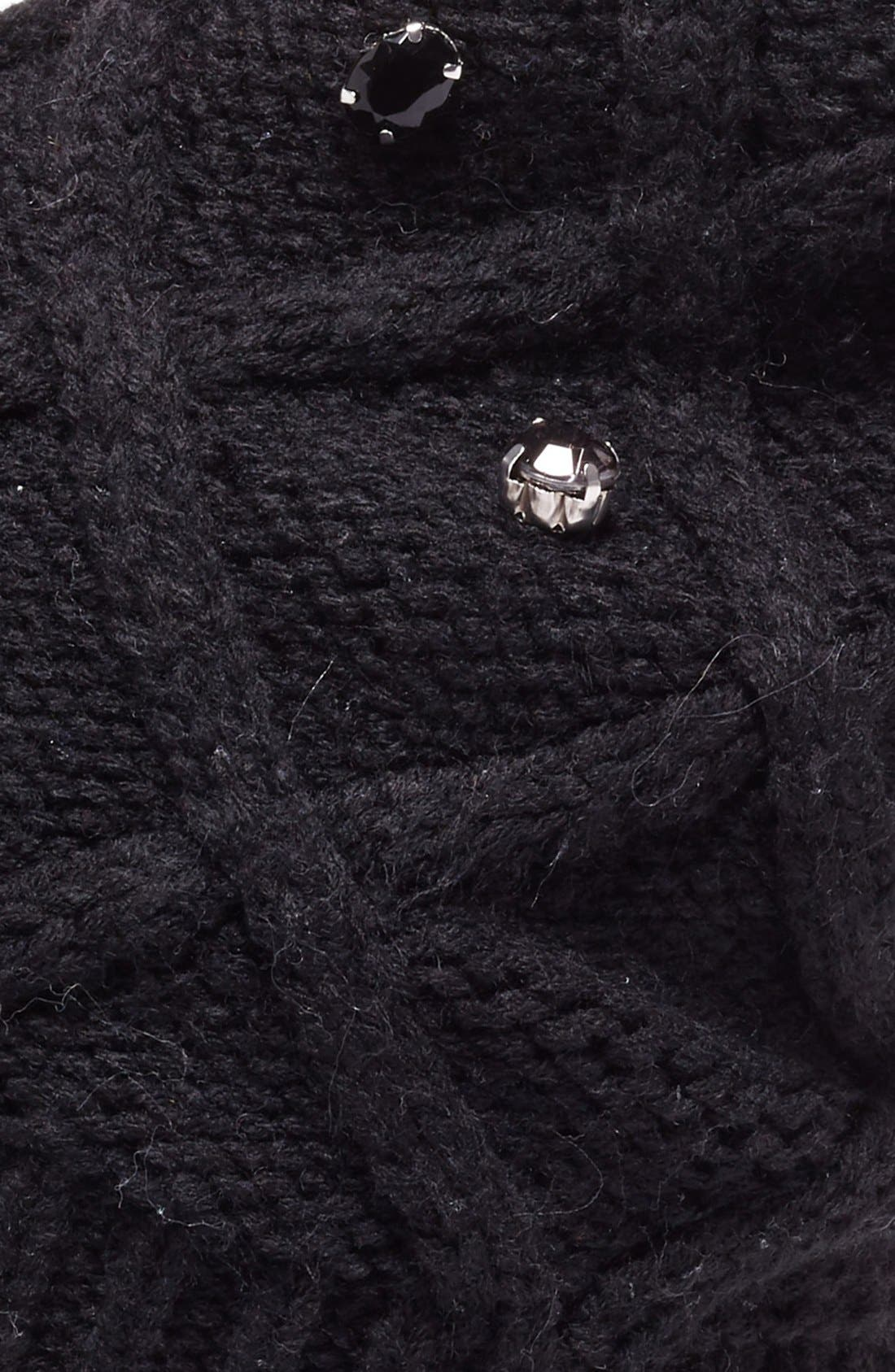 Embellished Knit Beanie,                             Alternate thumbnail 2, color,                             001