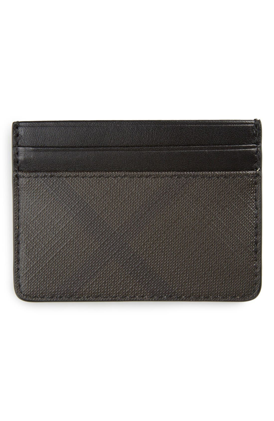 BURBERRY,                             'New London' Check Card Case,                             Alternate thumbnail 2, color,                             207