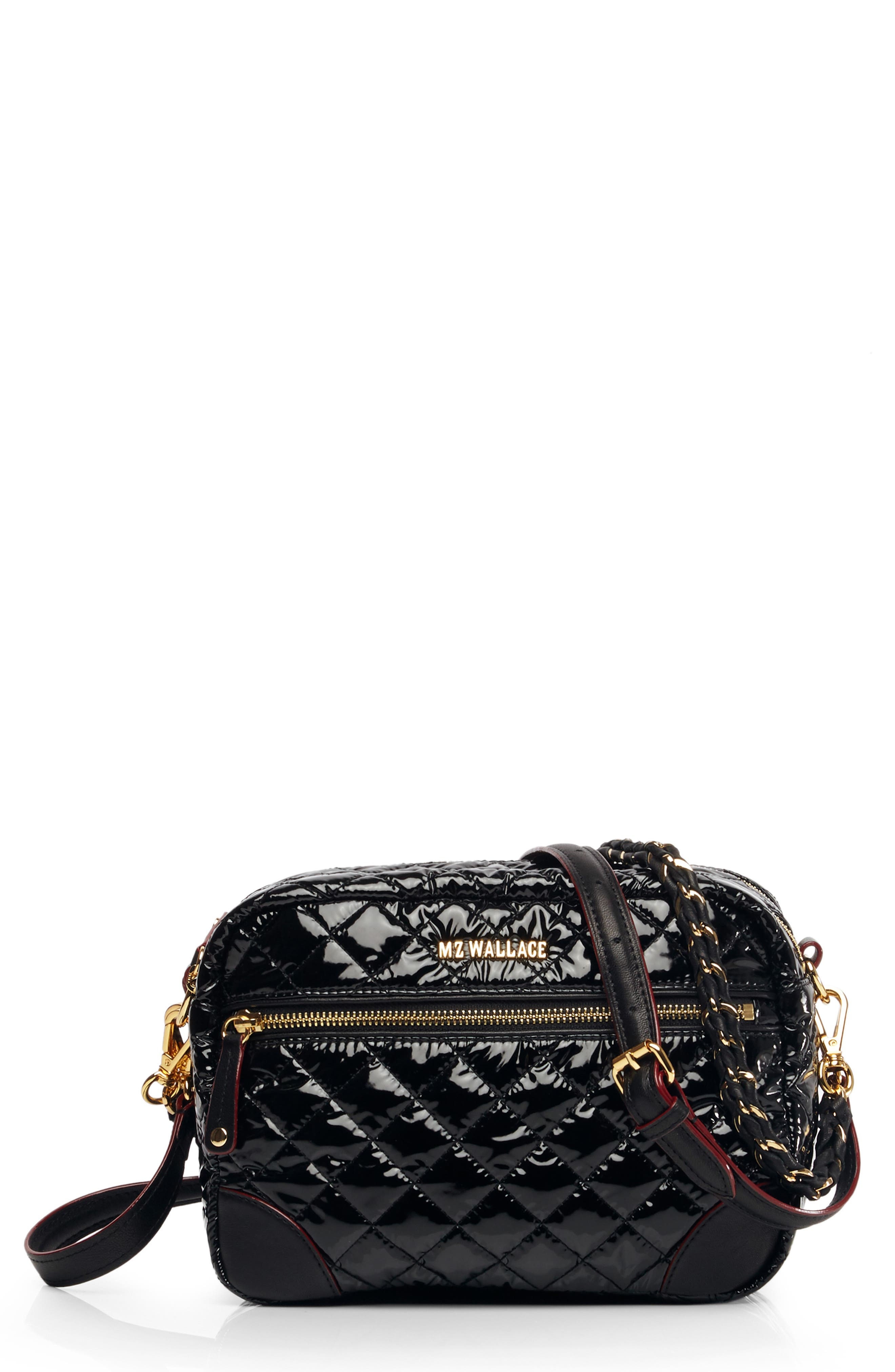 Small Crosby Bag,                         Main,                         color, BLACK LACQUER