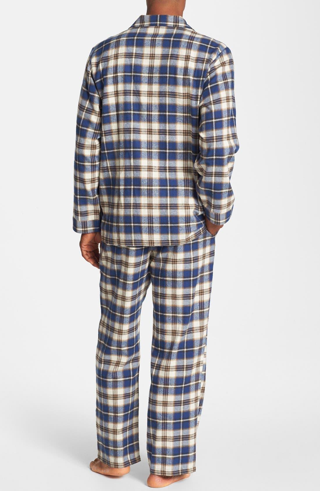 '824' Flannel Pajama Set,                             Alternate thumbnail 76, color,