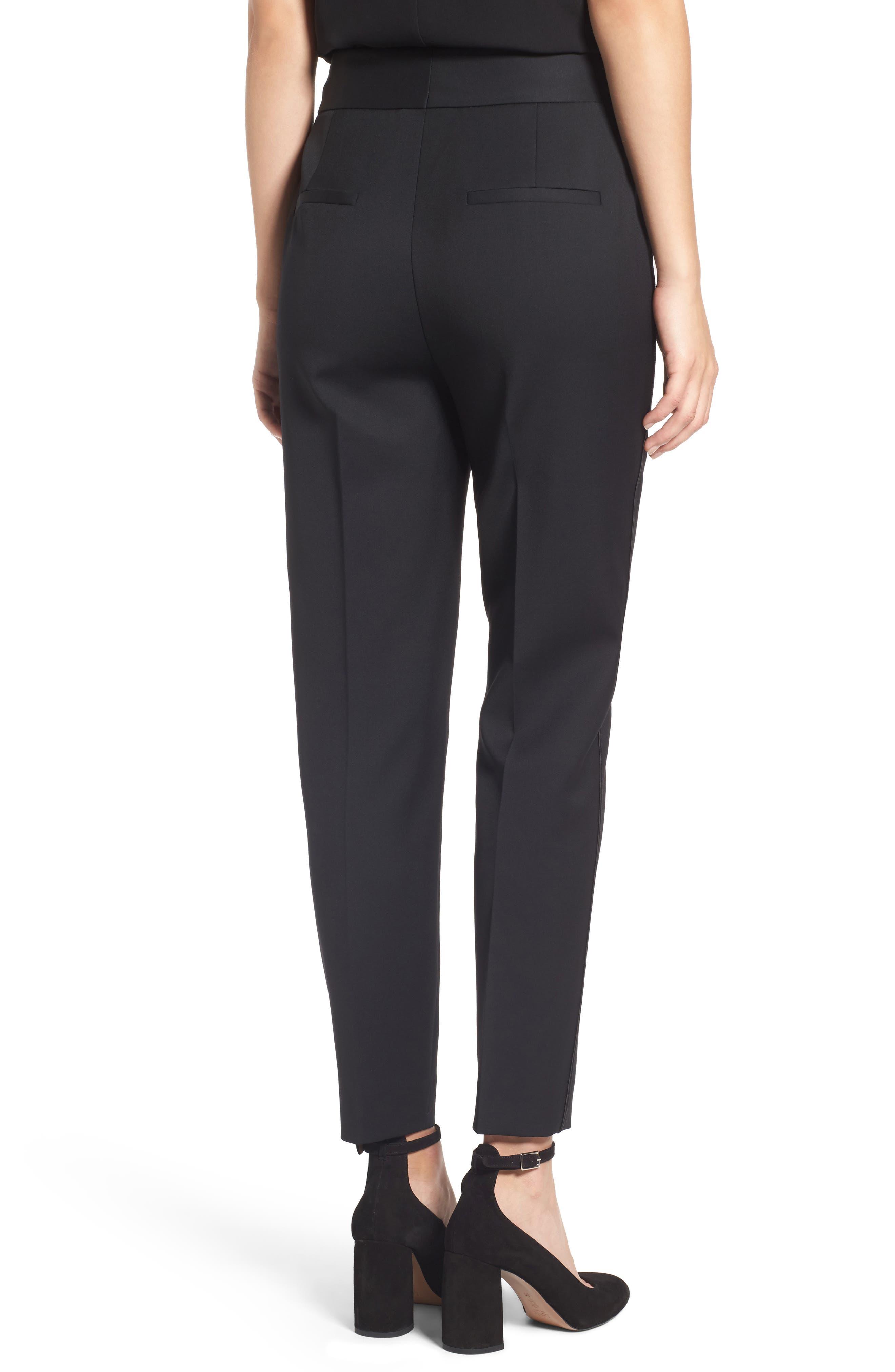 Tuxedo Detail Suit Trousers,                             Alternate thumbnail 2, color,                             001