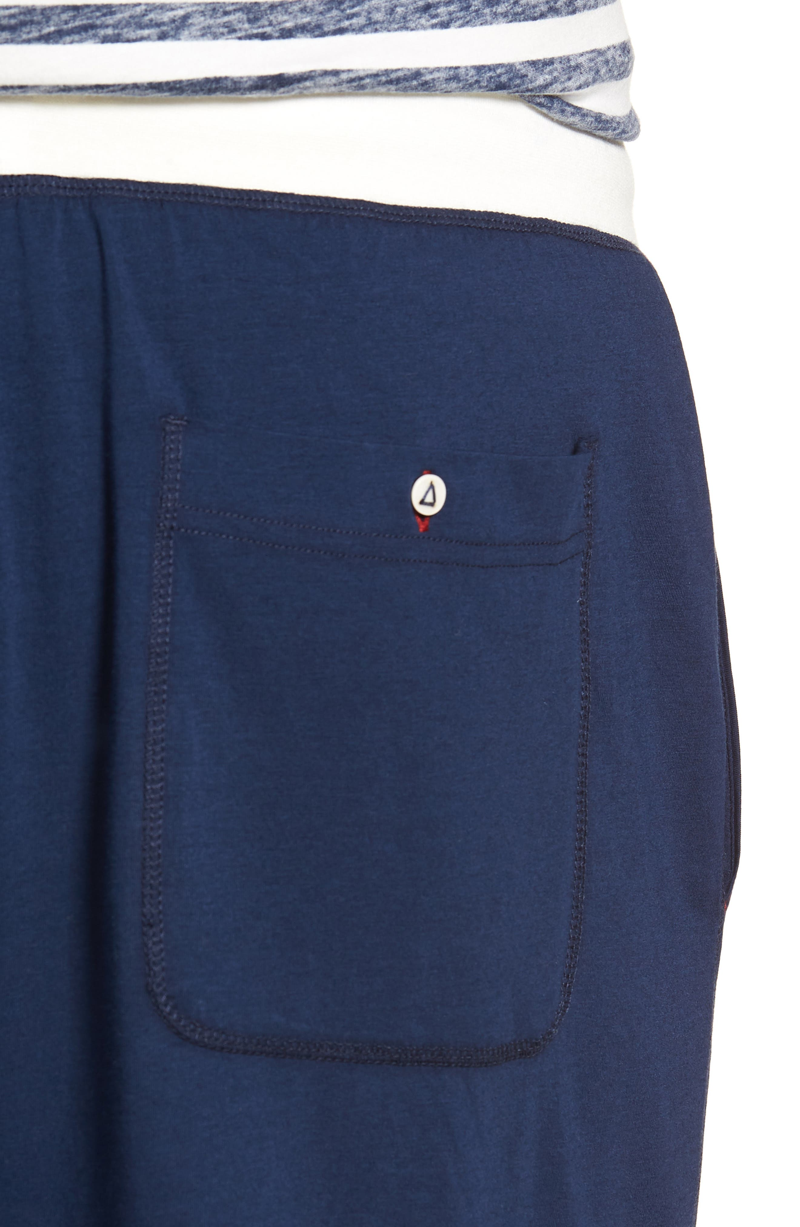 Stretch Cotton & Modal Blend Lounge Pants,                             Alternate thumbnail 4, color,                             NAVY