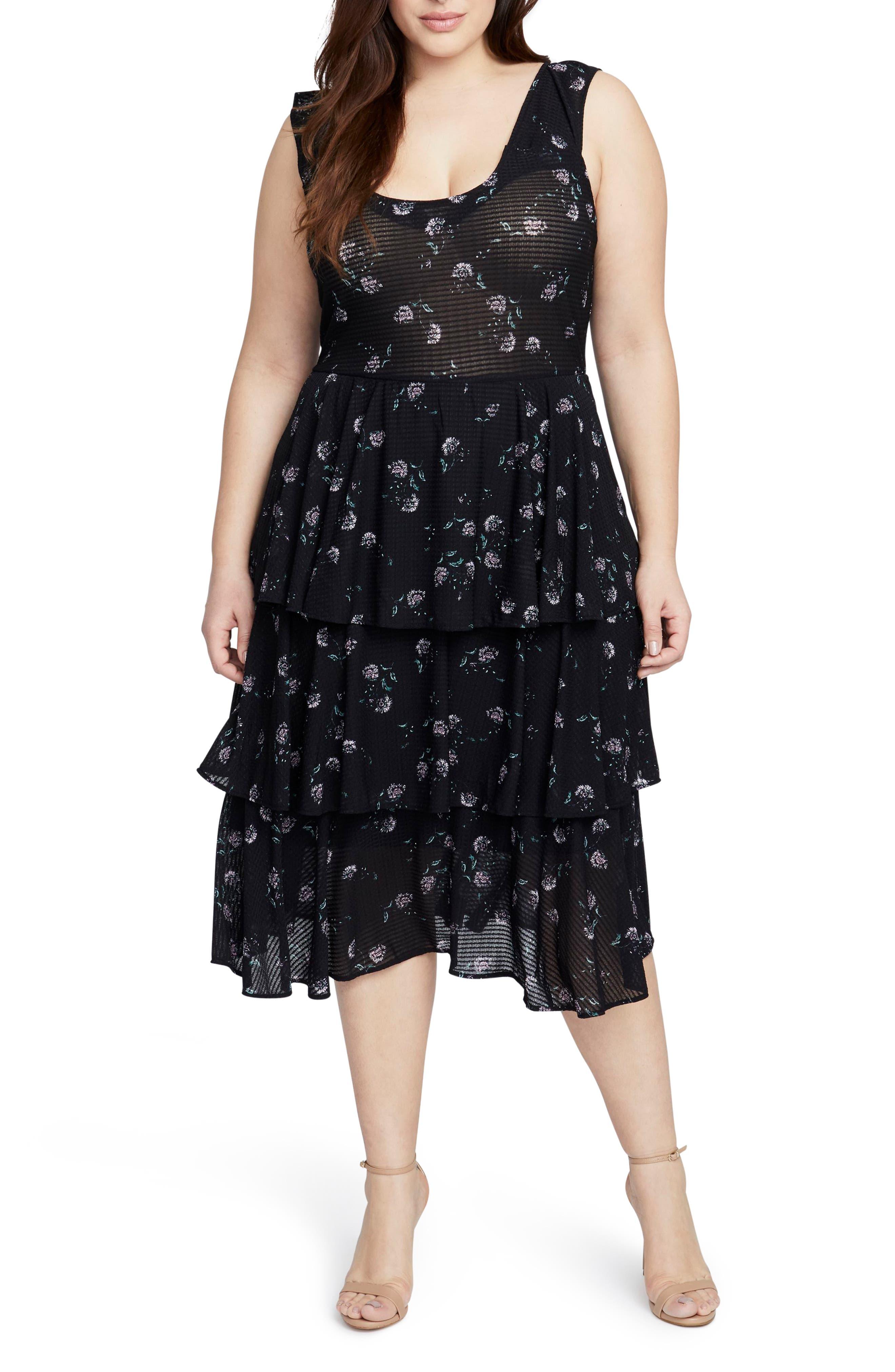 Plus Size Rachel Rachel Roy Tiered Knit Dress, Blue