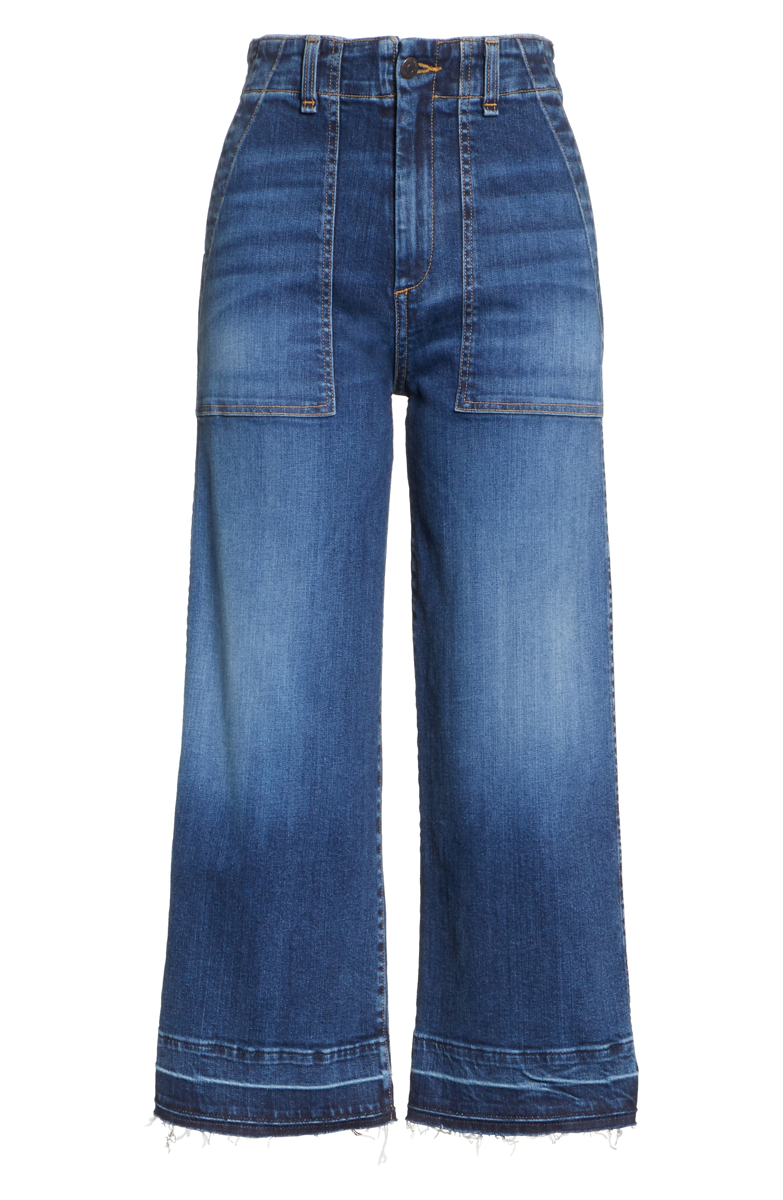Lou Released Hem Gaucho Jeans,                             Alternate thumbnail 7, color,                             411