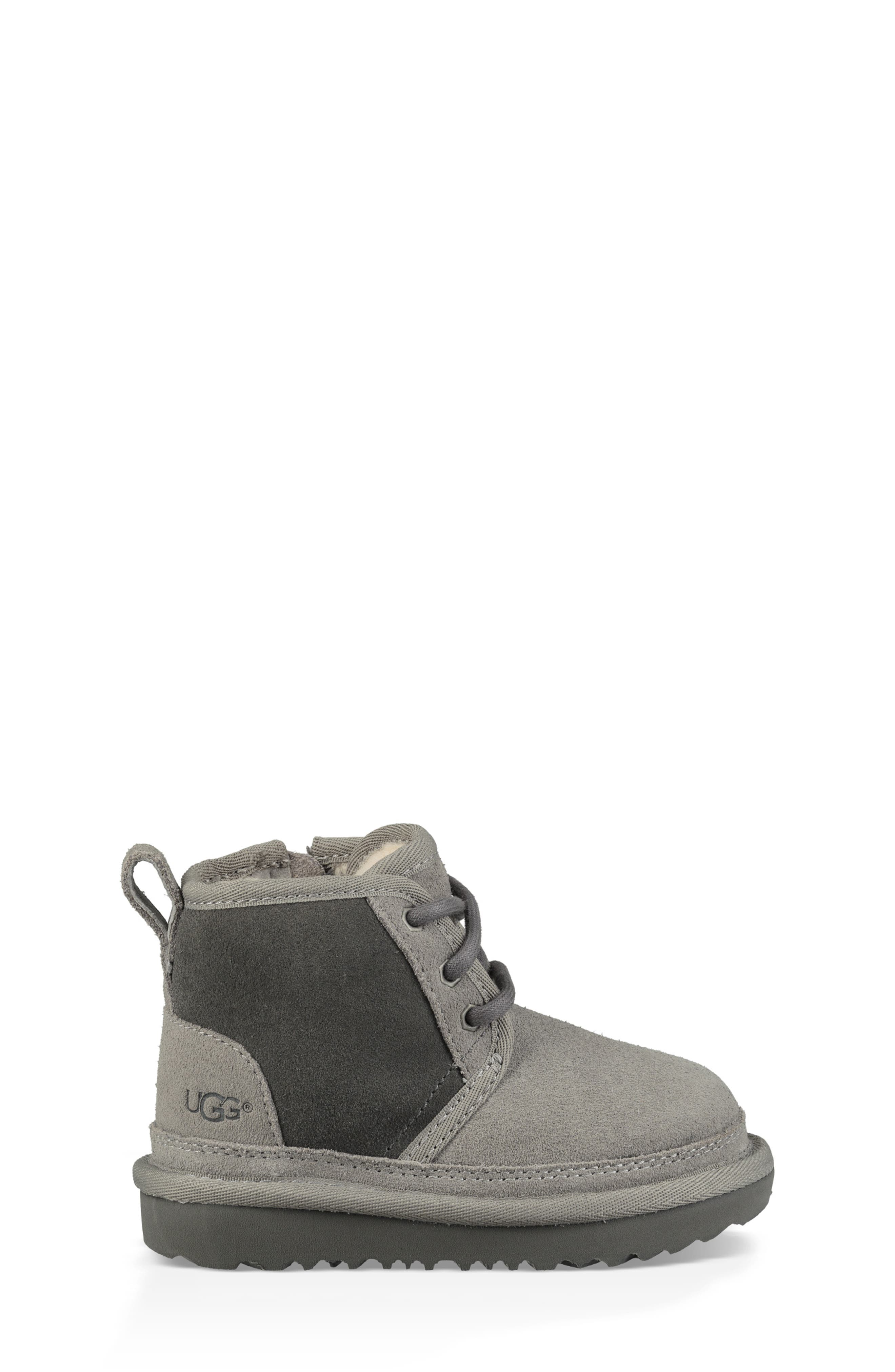 Neumel II Water Resistant Chukka Boot,                             Alternate thumbnail 3, color,                             CHARCOAL