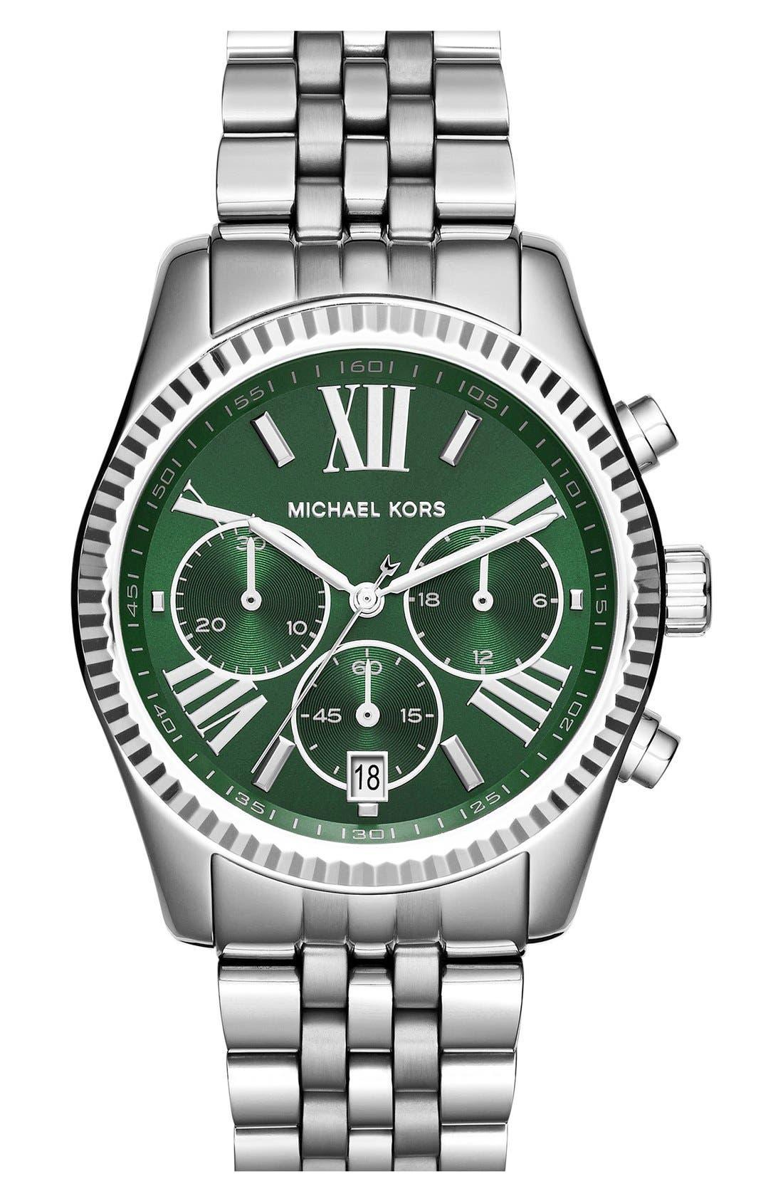 'Lexington' Chronograph Bracelet Watch, 38mm,                             Main thumbnail 7, color,