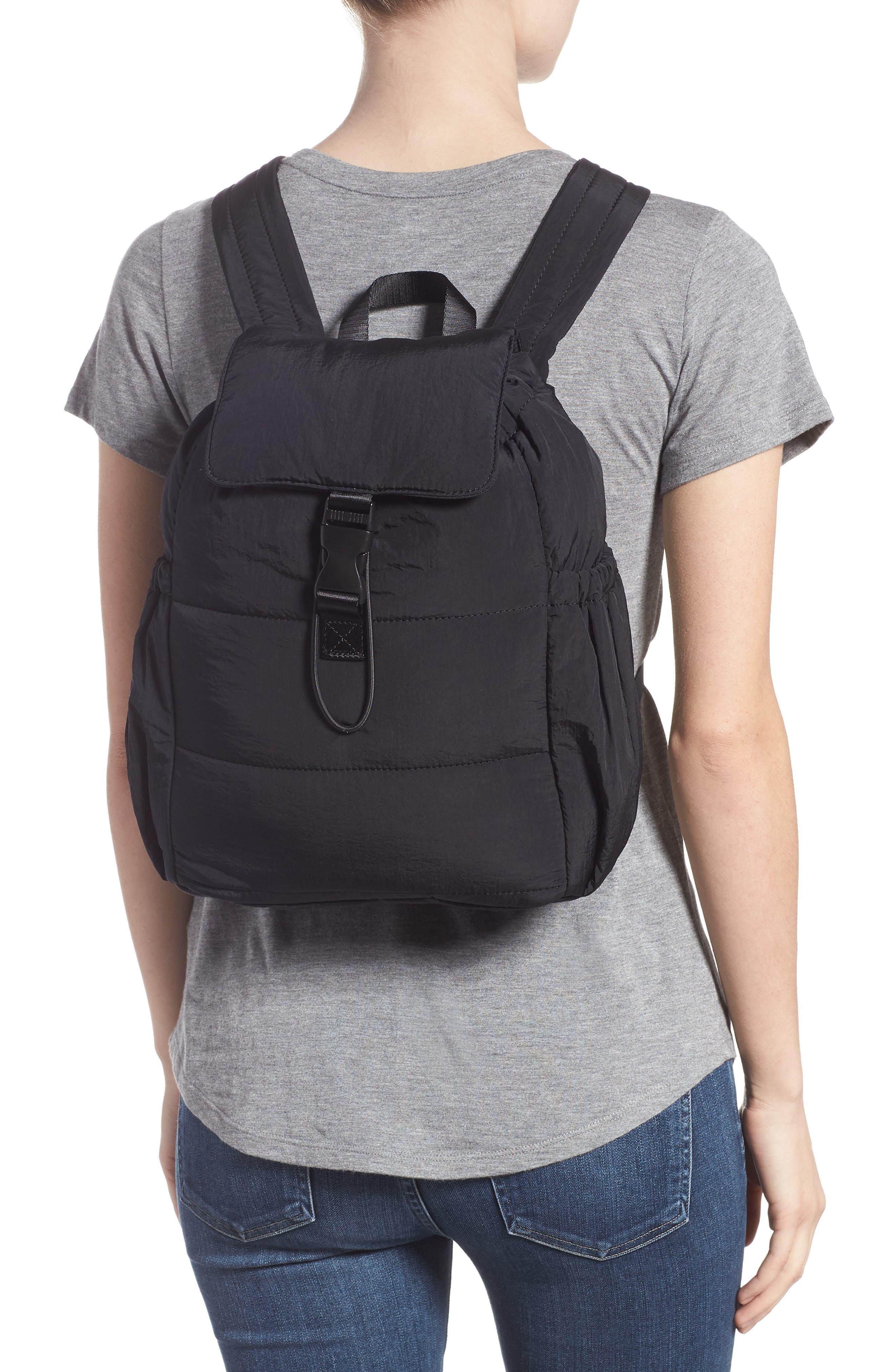 Teri Nylon Backpack,                             Alternate thumbnail 2, color,                             BLACK