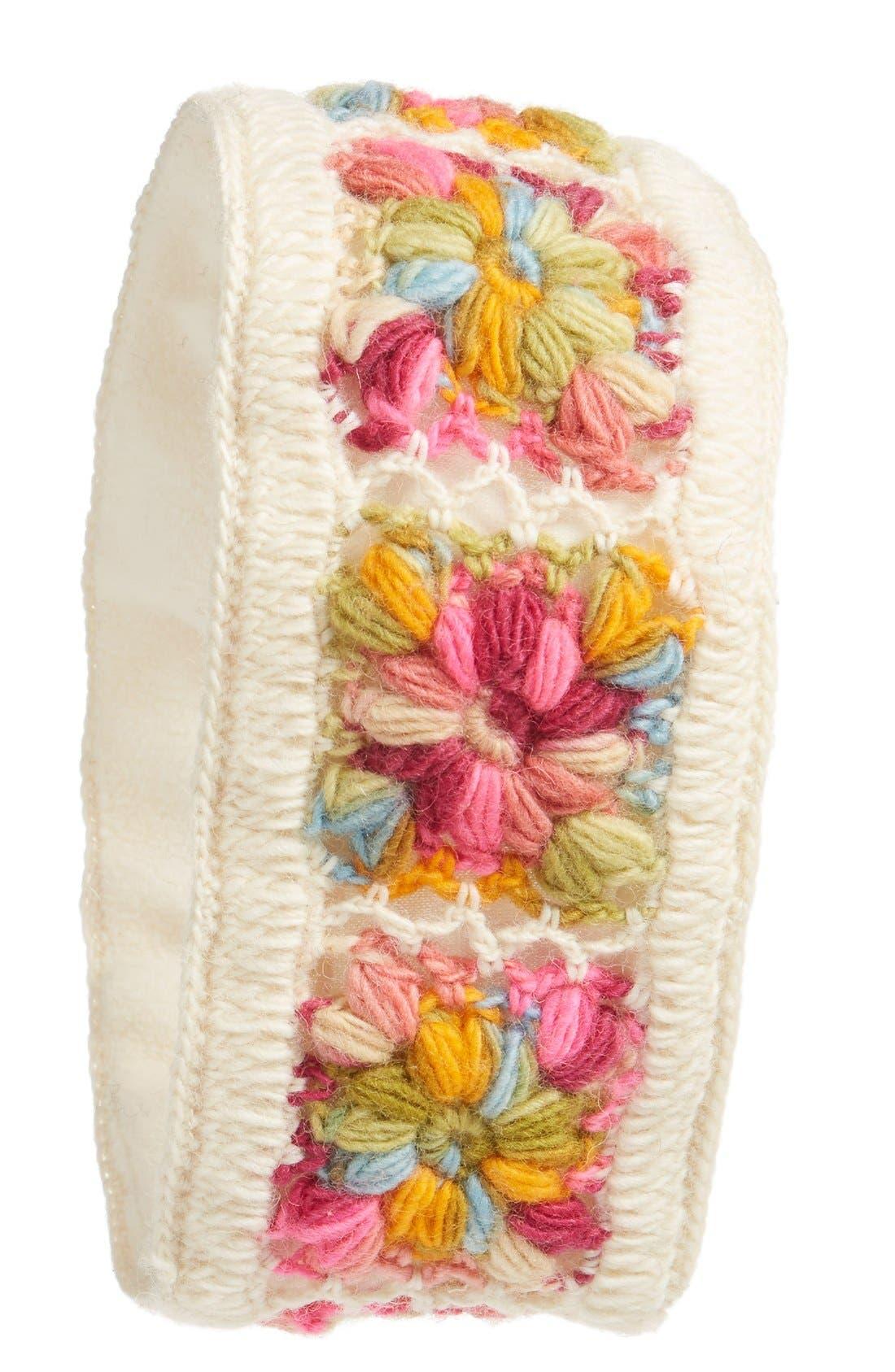 Crochet Ear Warmer Headband,                         Main,                         color, WHITE MULTI