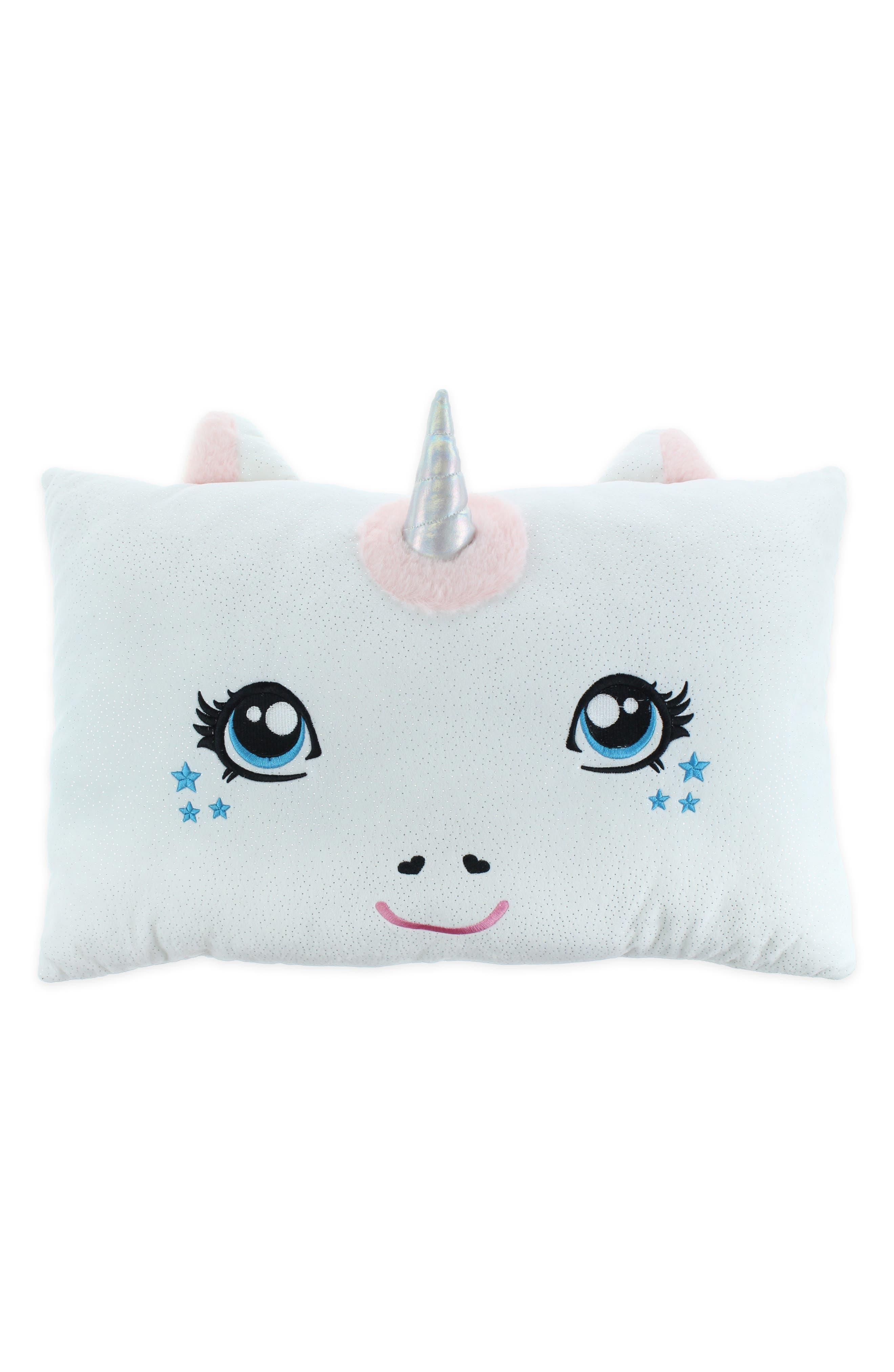 Unicorn Pillow,                             Main thumbnail 1, color,                             WHITE COMBO