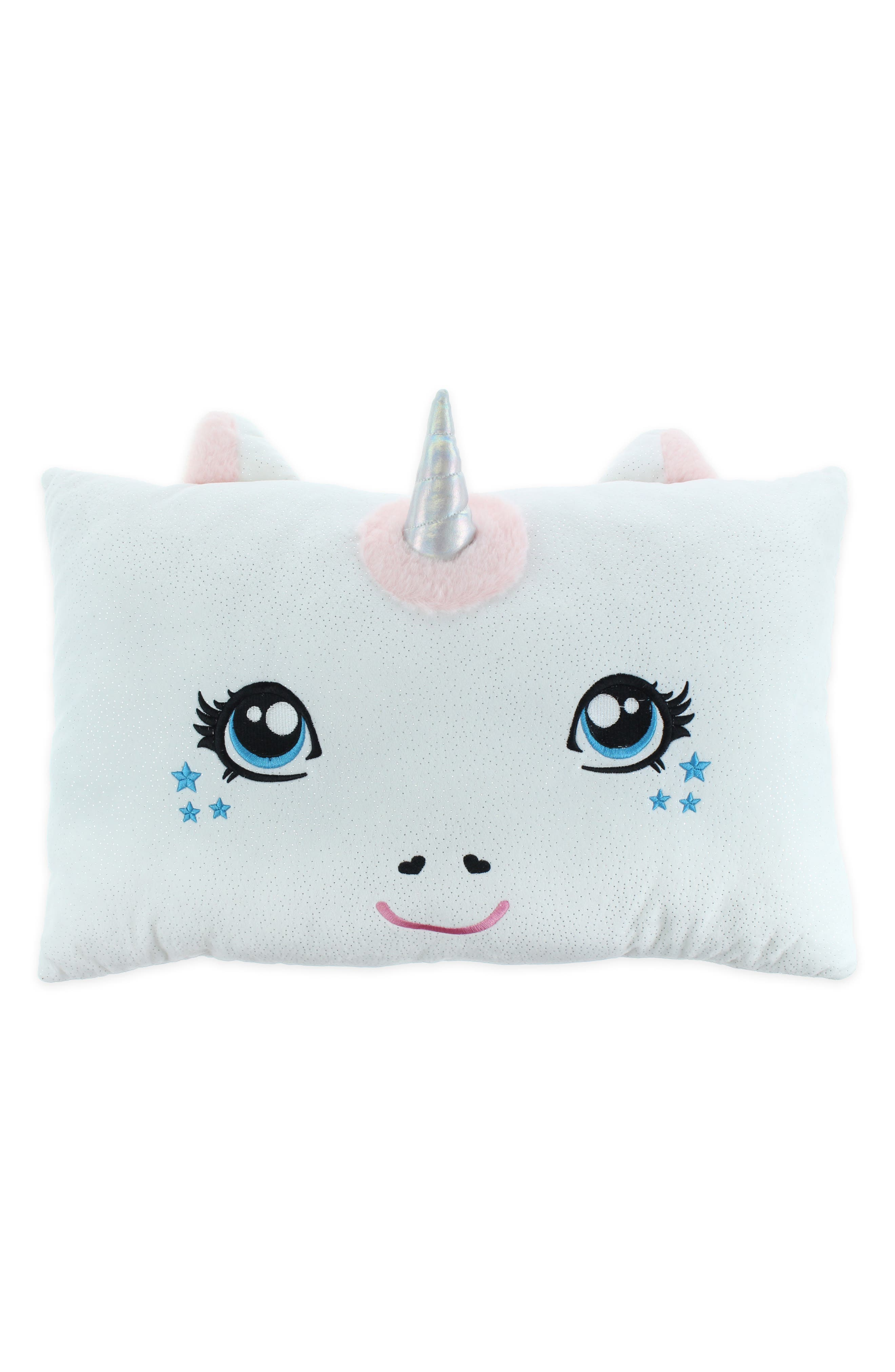 Unicorn Pillow,                         Main,                         color, WHITE COMBO