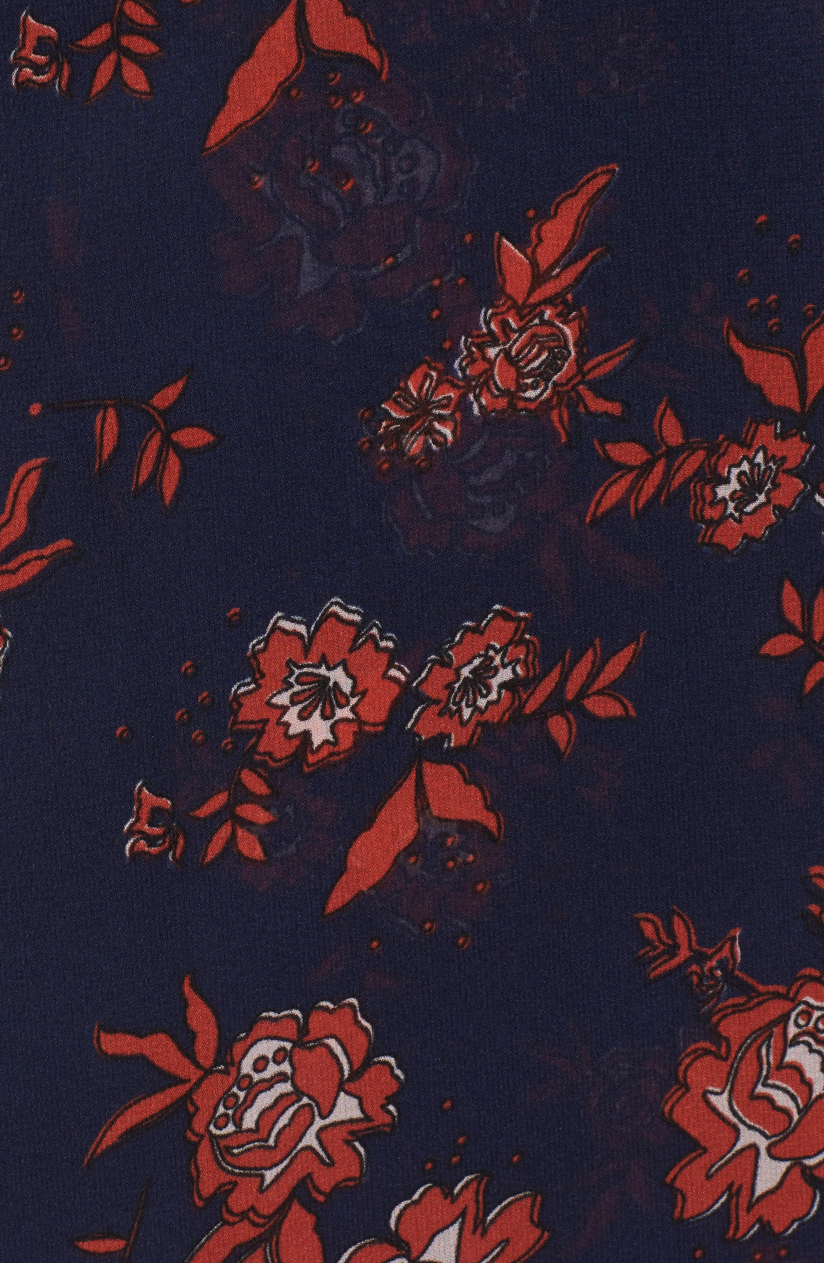 Capital Floral Wrap Maxi Dress,                             Alternate thumbnail 5, color,                             413