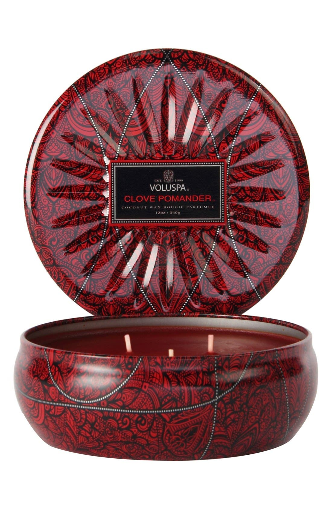 'Vermeil Collection - Clove Pomander' 3-Wick Scented Candle,                             Main thumbnail 1, color,                             000