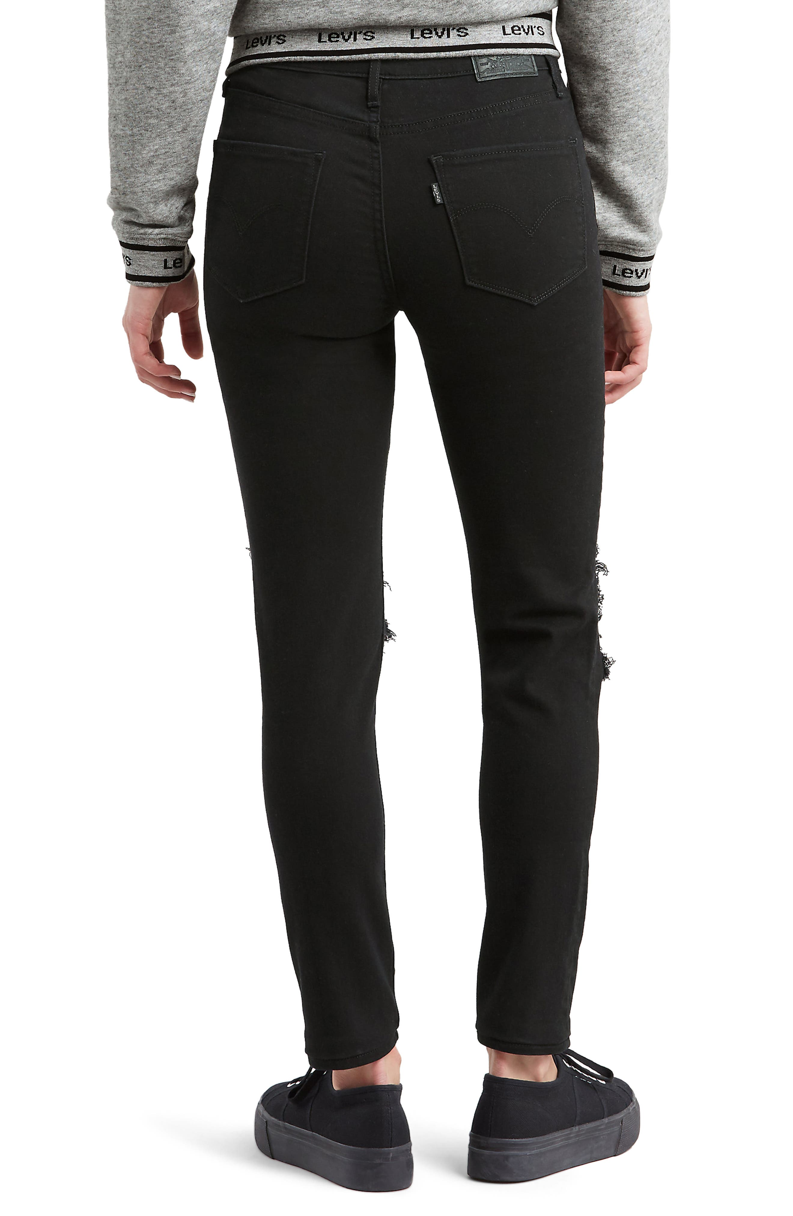 721<sup>™</sup> Ripped High Waist Skinny Jeans,                             Alternate thumbnail 2, color,                             LOOKER