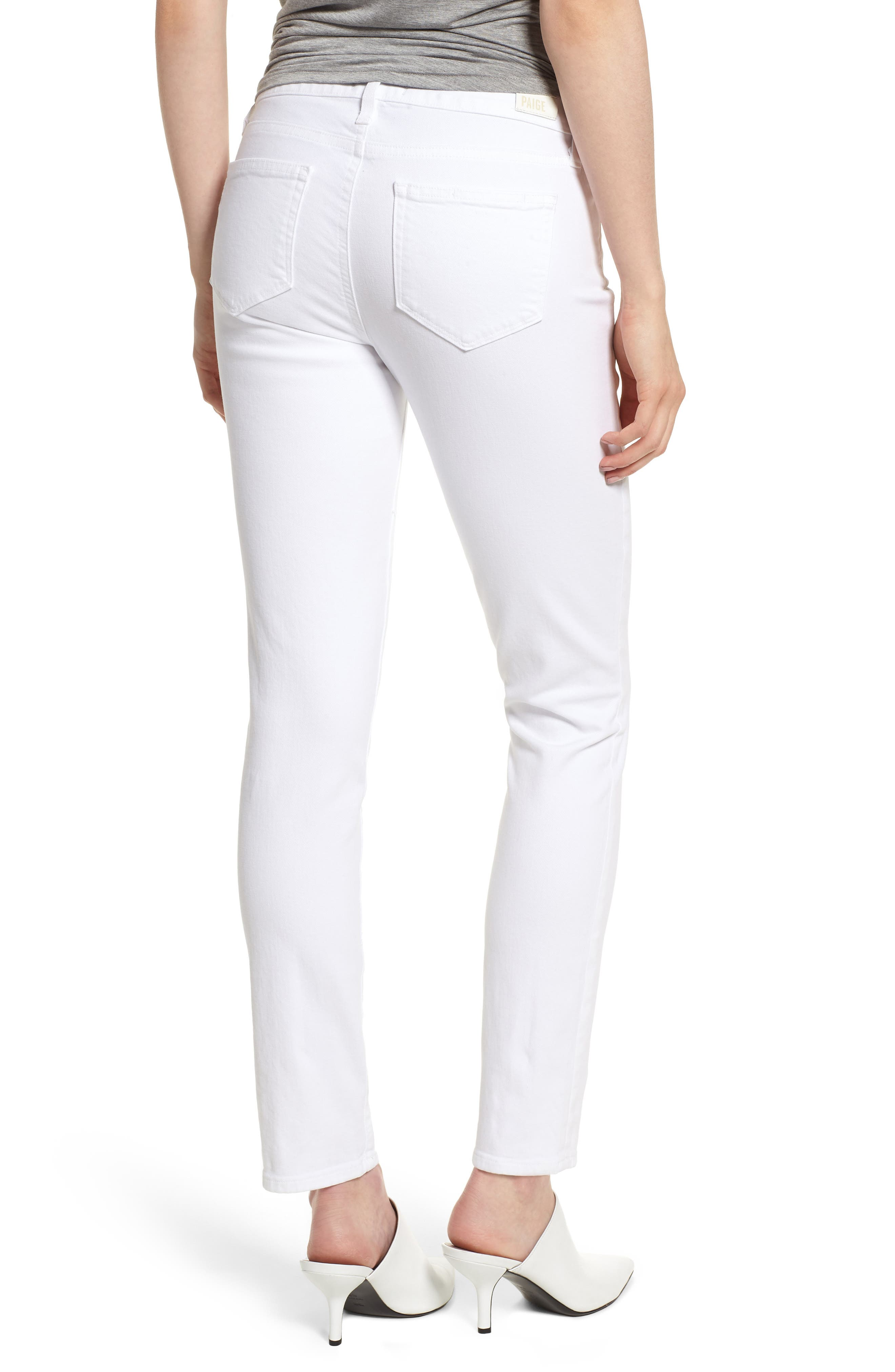 Skyline Ankle Peg Skinny Jeans,                             Alternate thumbnail 2, color,                             CRISP WHITE