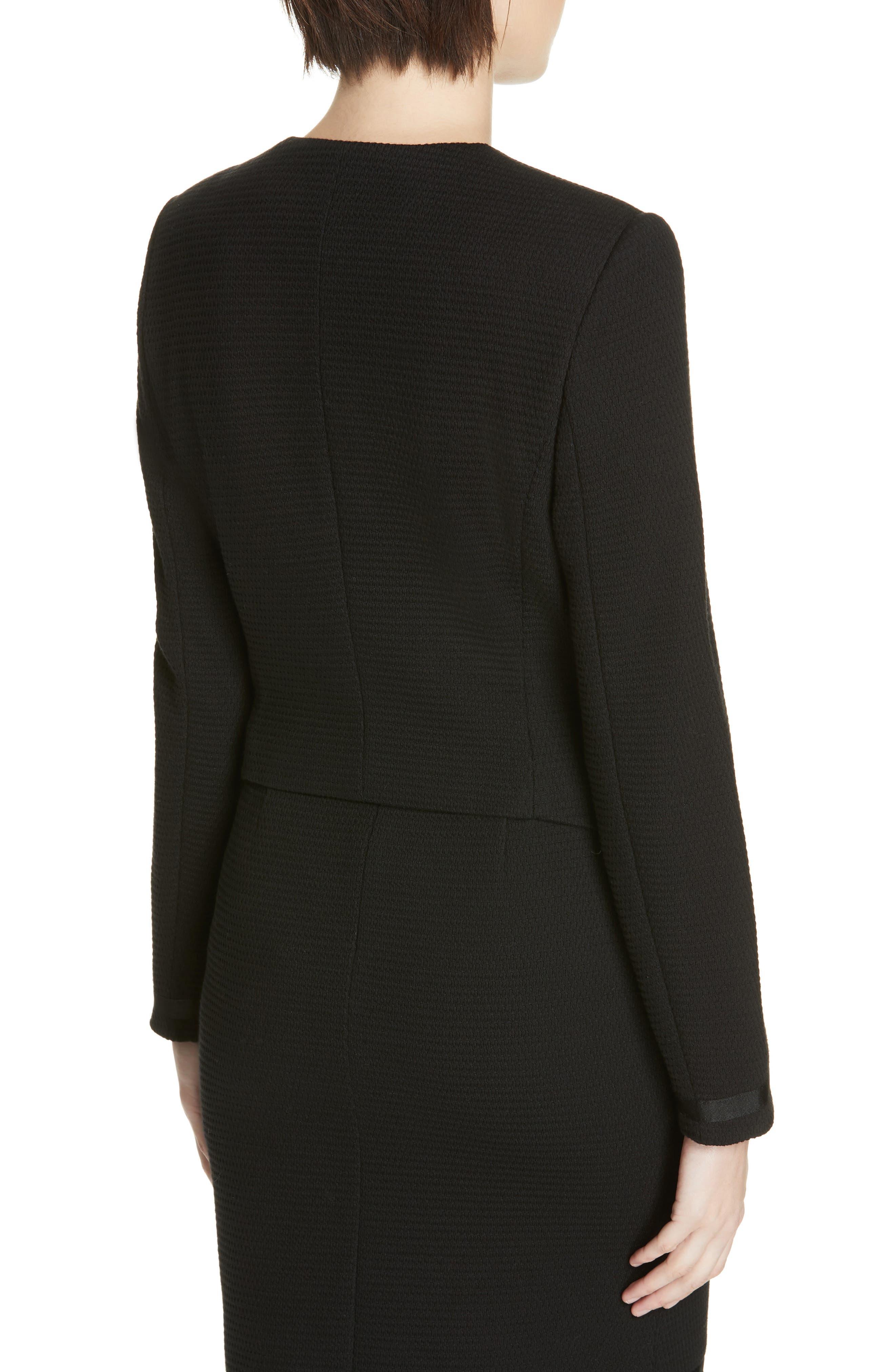 Kemio Textured Jersey Suit Jacket,                             Alternate thumbnail 2, color,                             BLACK