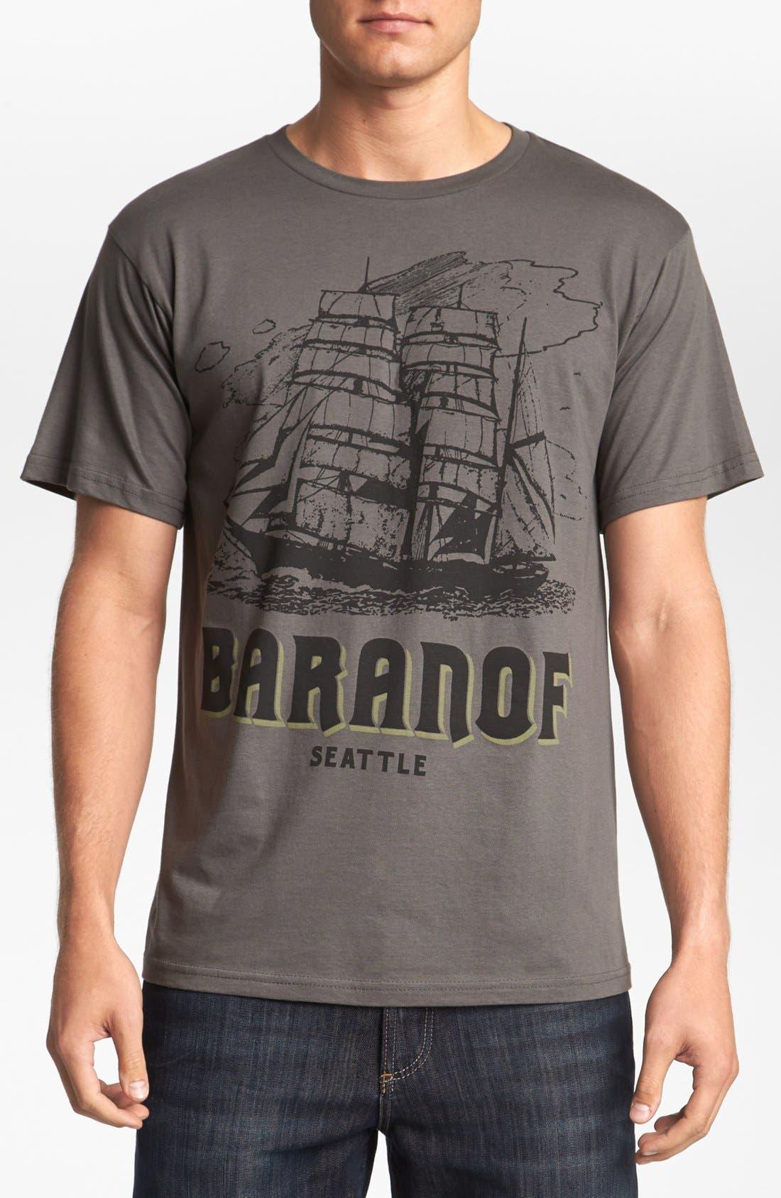 HORSES CUT SHOP,                             'Baranof' T-Shirt,                             Main thumbnail 1, color,                             020