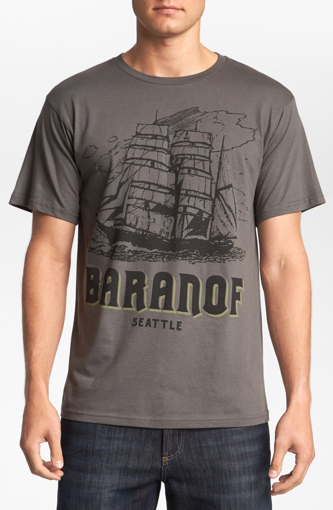 HORSES CUT SHOP 'Baranof' T-Shirt, Main, color, 020
