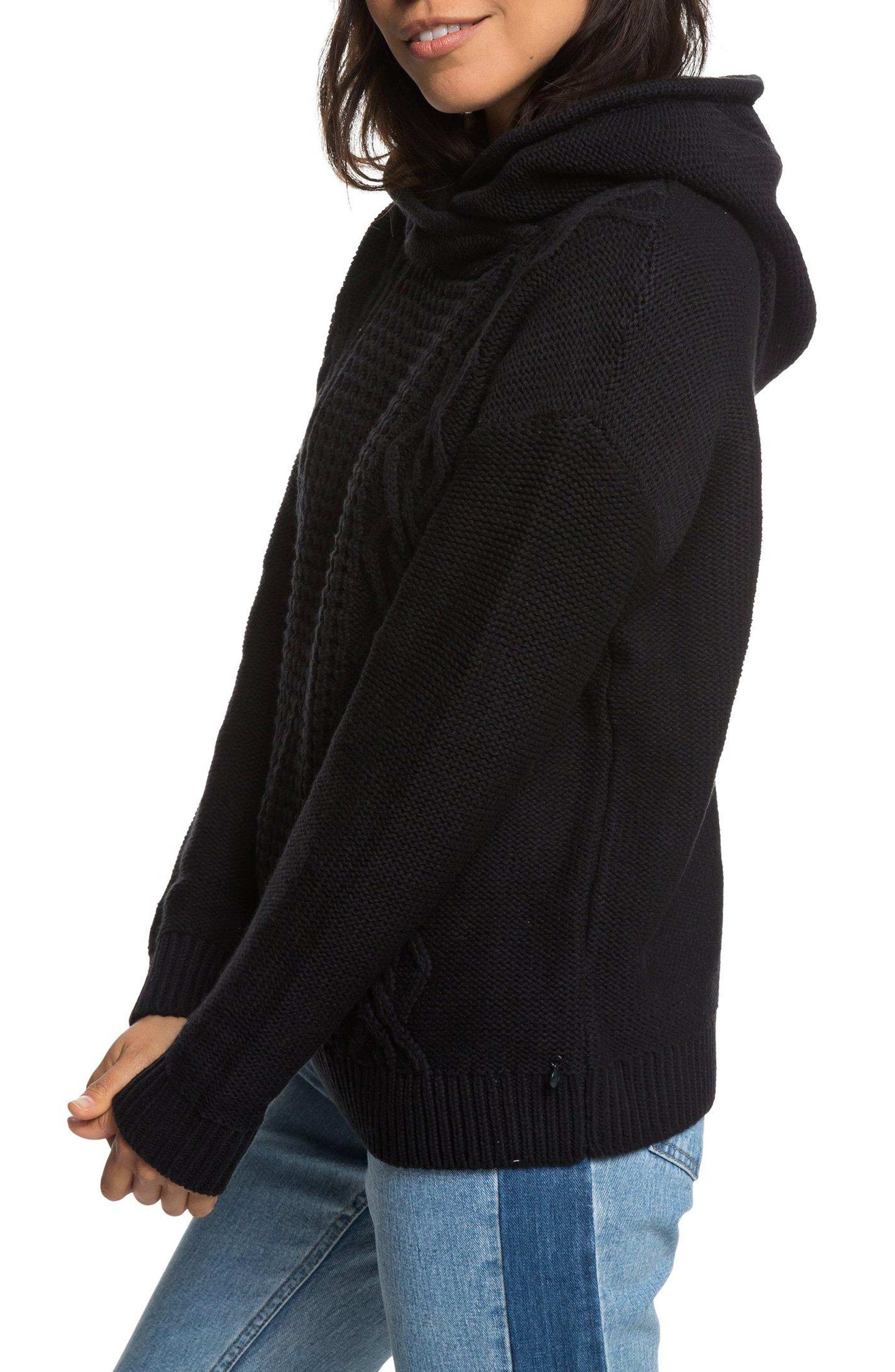 Off to Dinner Hooded Sweater,                             Alternate thumbnail 3, color,                             001