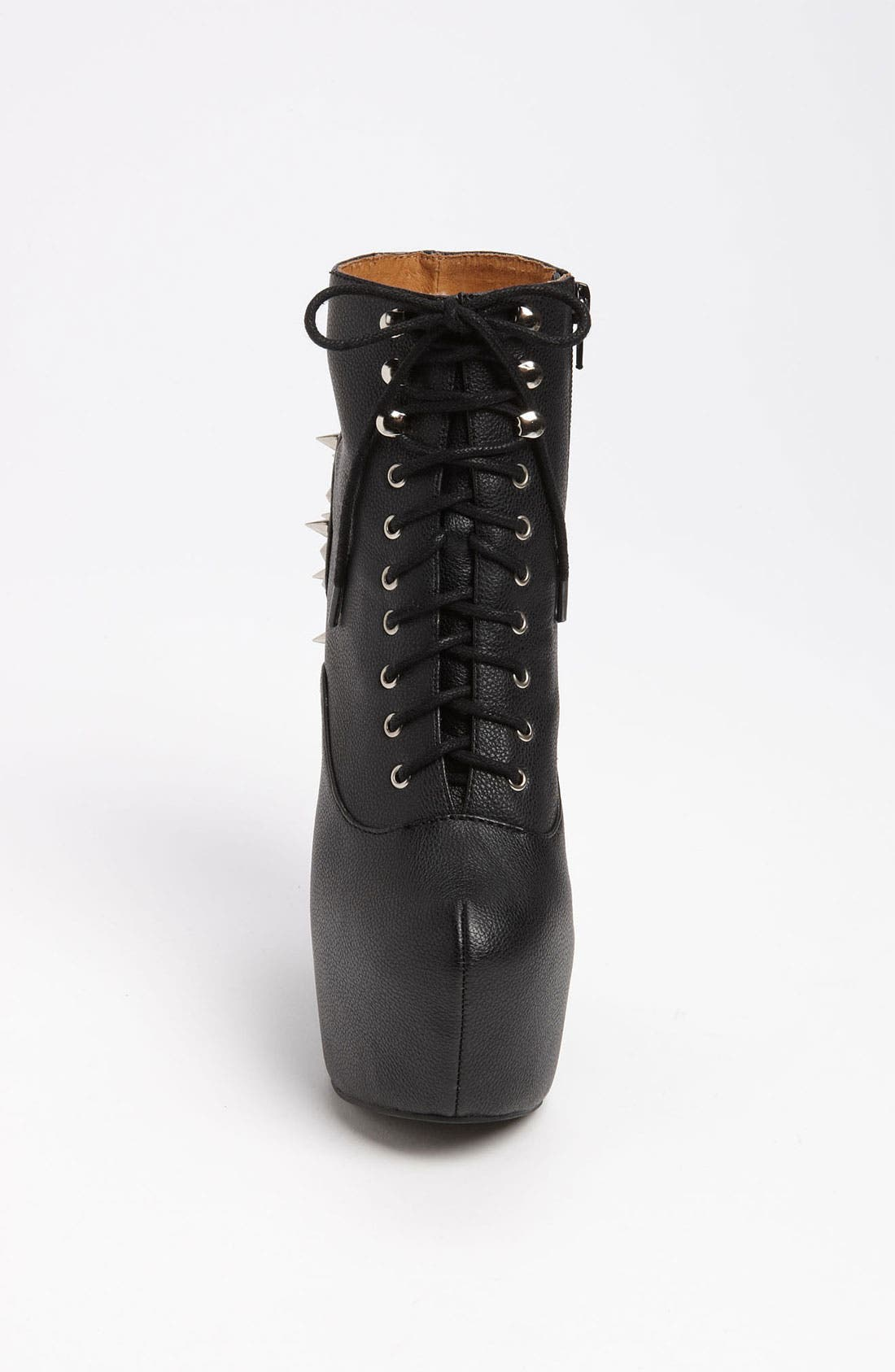 JEFFREY CAMPBELL,                             'Damsel Spiked' Wedge Bootie,                             Alternate thumbnail 2, color,                             001