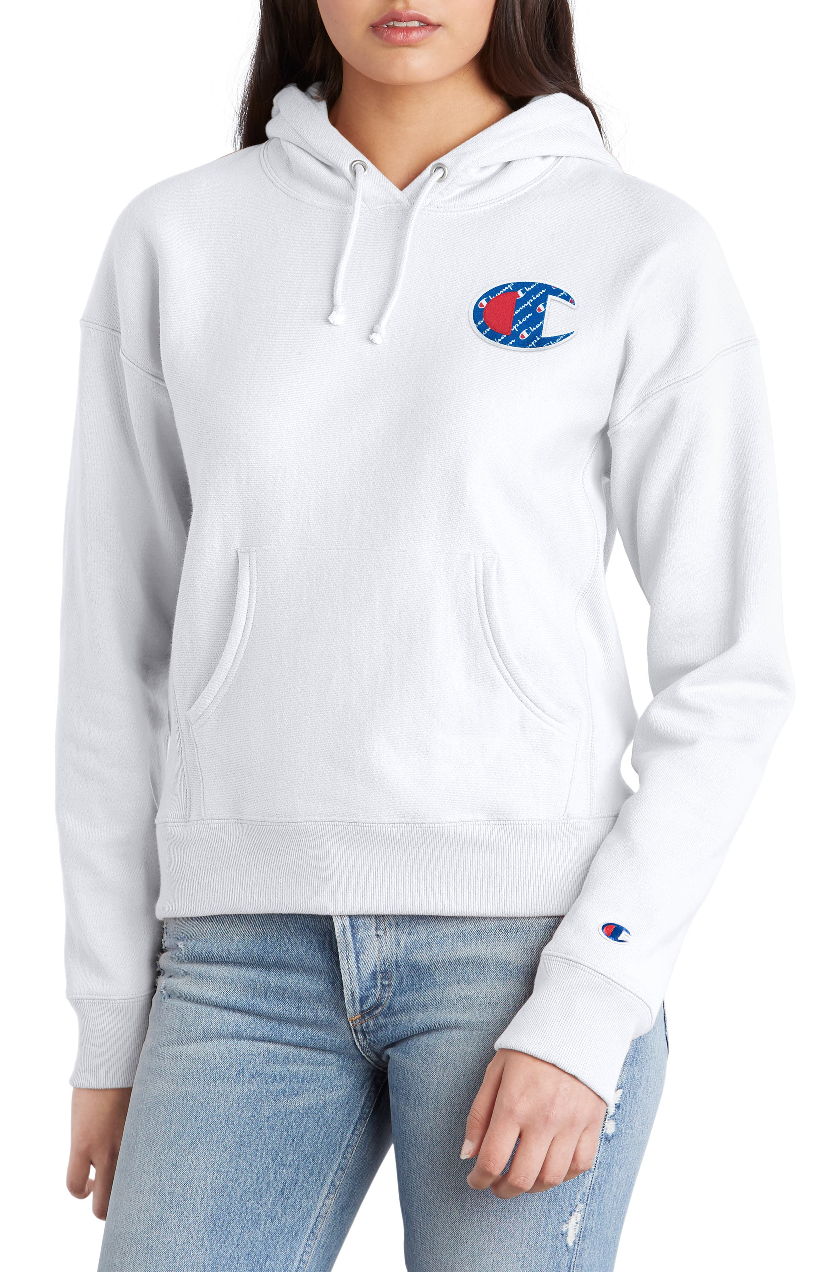 Logo Appliqué Hoodie,                             Main thumbnail 1, color,                             100