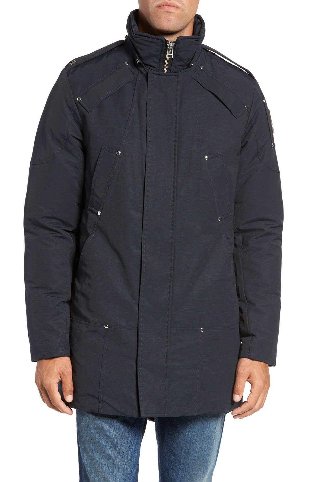 Stirling Water Repellent Down Parka with Genuine Fox Fur Trim,                             Alternate thumbnail 5, color,                             DARK NAVY