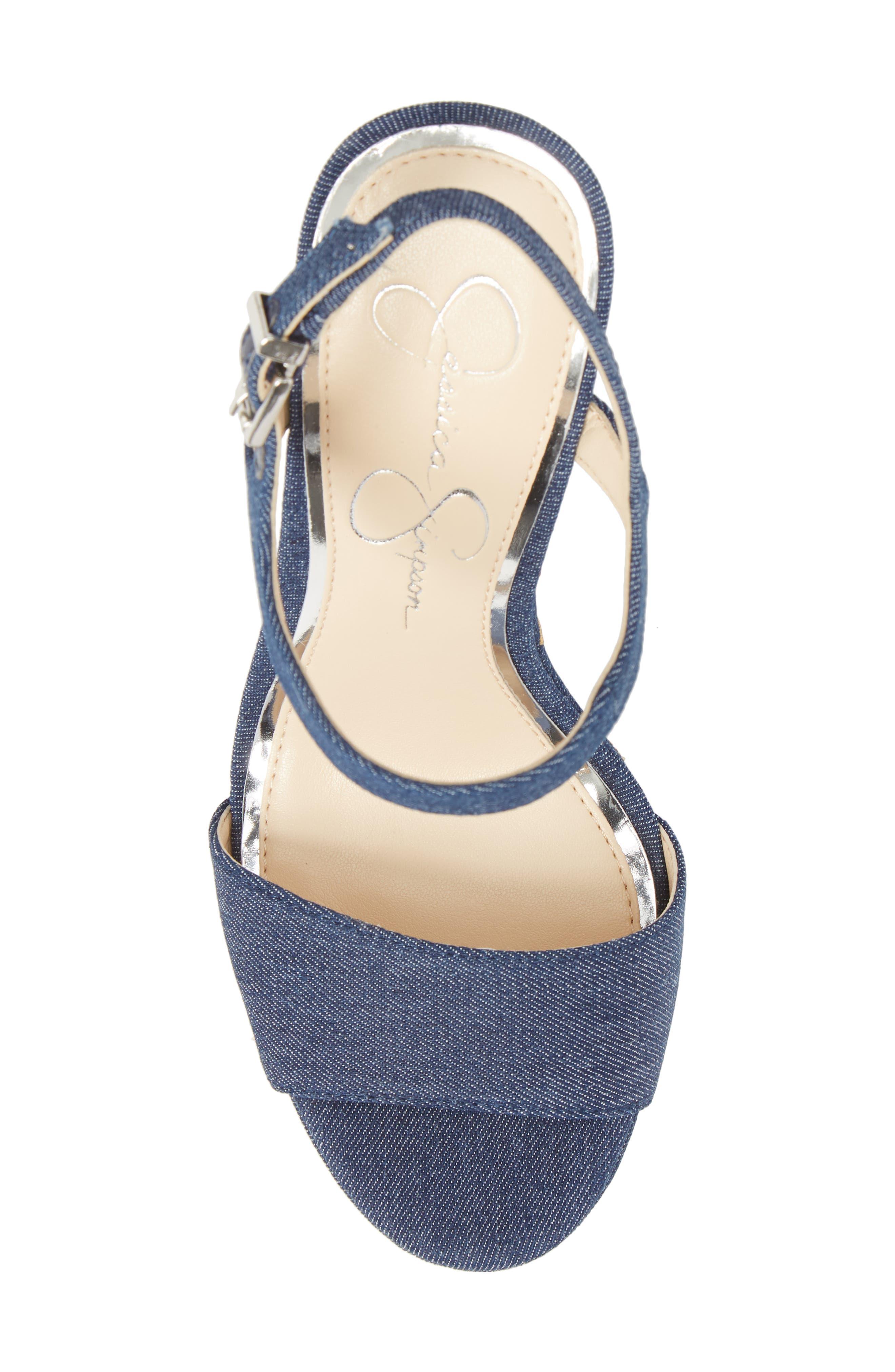 JESSICA SIMPSON,                             Divella Embroidered Platform Sandal,                             Alternate thumbnail 5, color,                             410