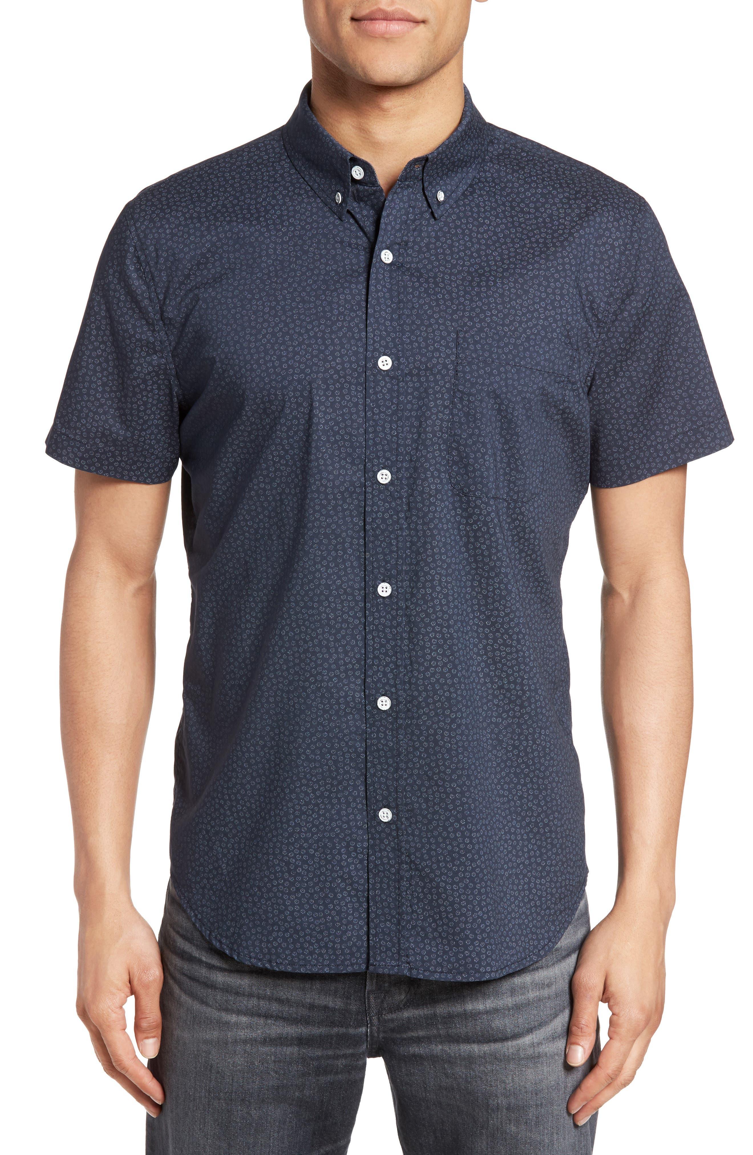 Nash Cotton Sport Shirt,                         Main,                         color, 401