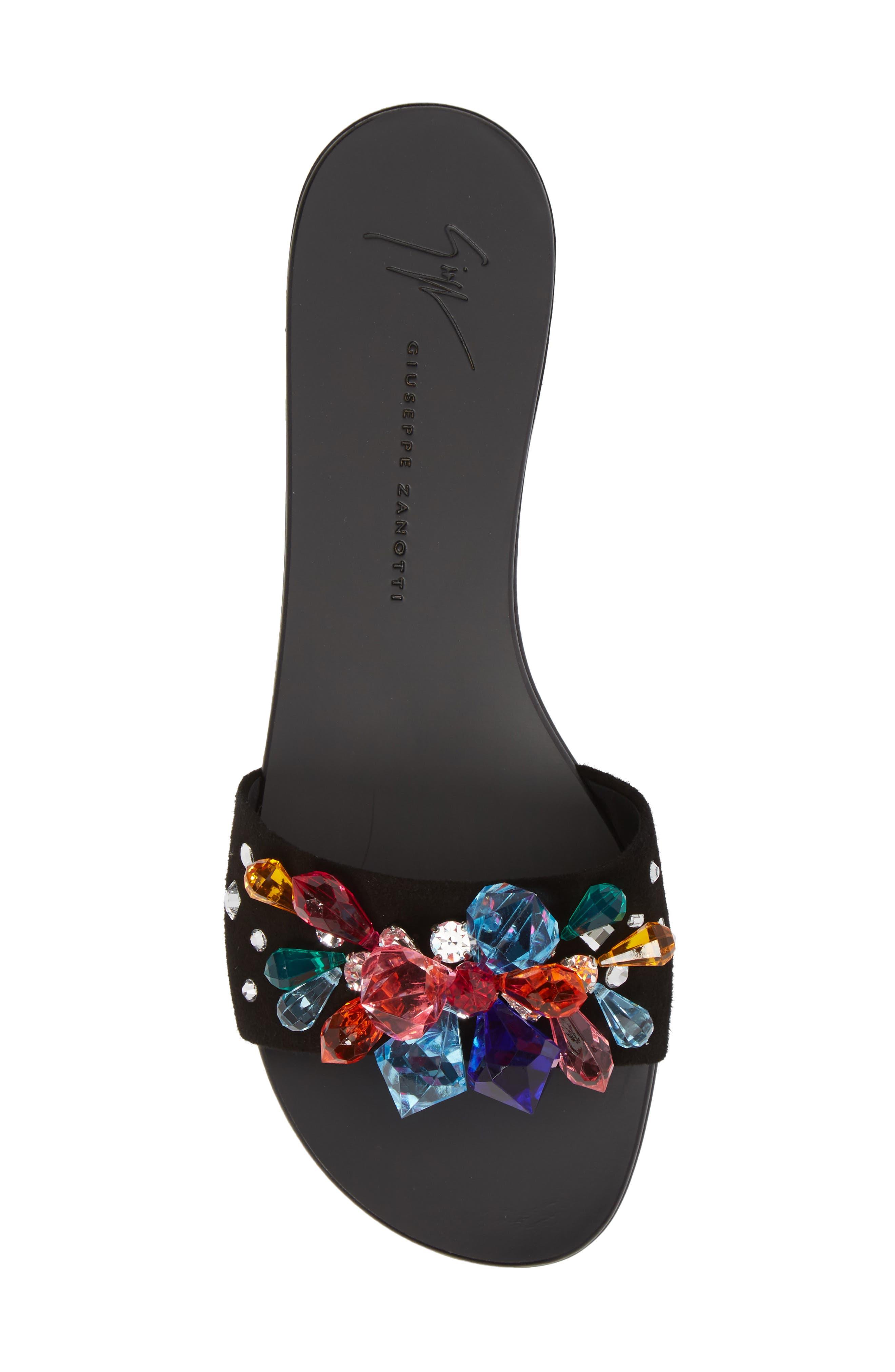 Embellished Slide Sandal,                             Alternate thumbnail 5, color,                             001