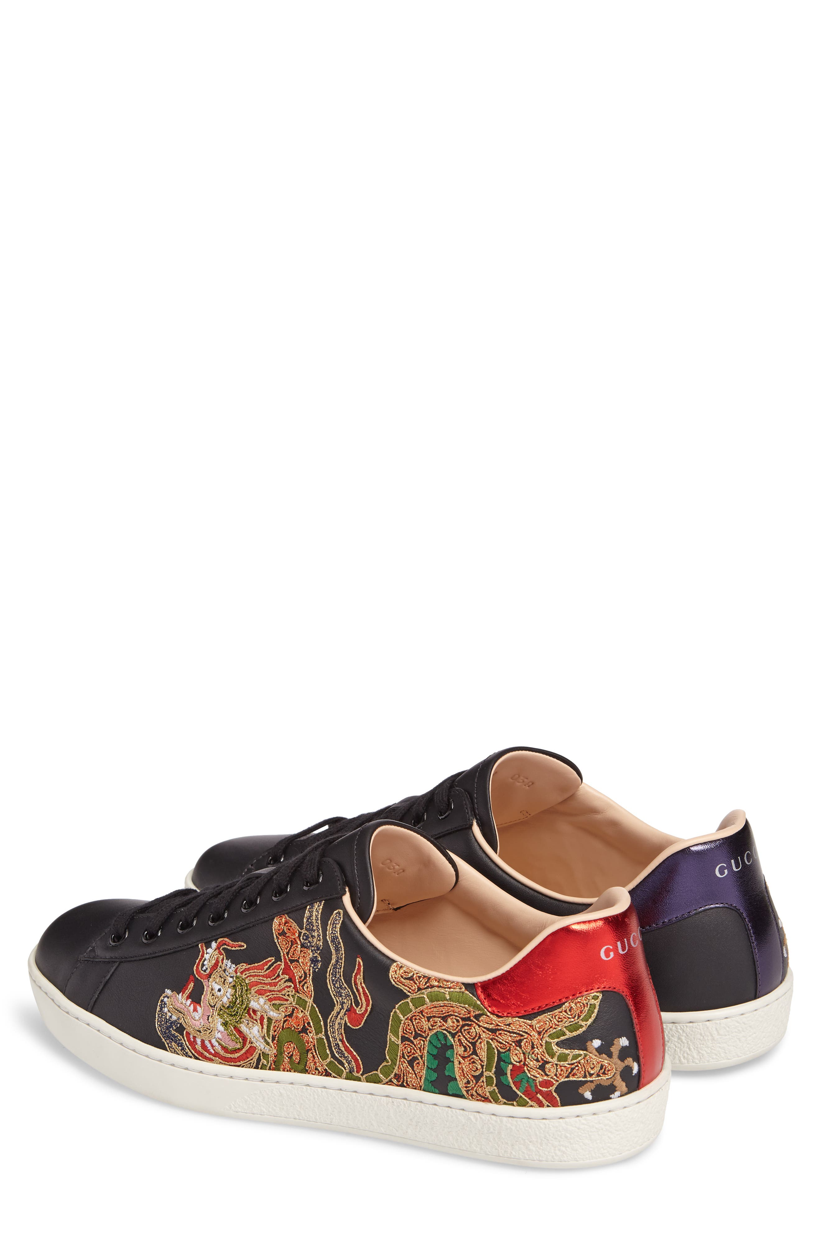 New Ace Embroidered Sneaker,                             Alternate thumbnail 2, color,                             009