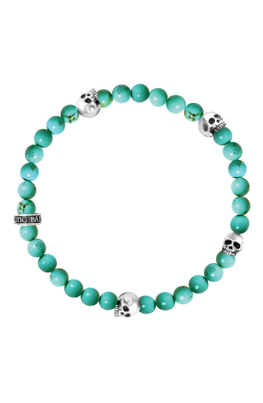 Turquoise Bead Bracelet, Main, color, 440