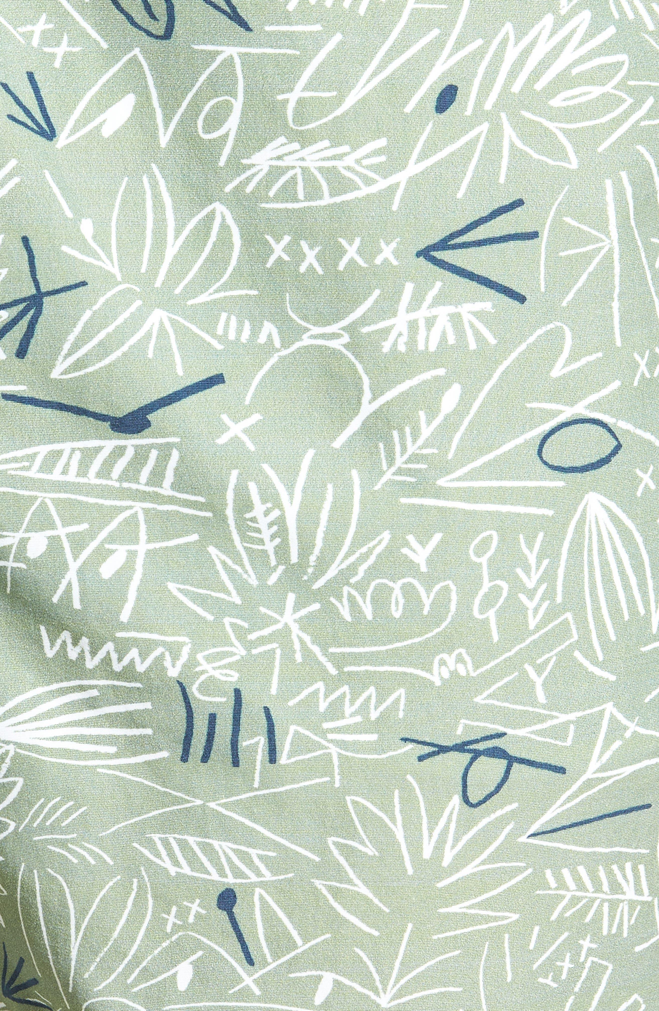 Flowing Print Swim Trunks,                             Alternate thumbnail 5, color,                             300