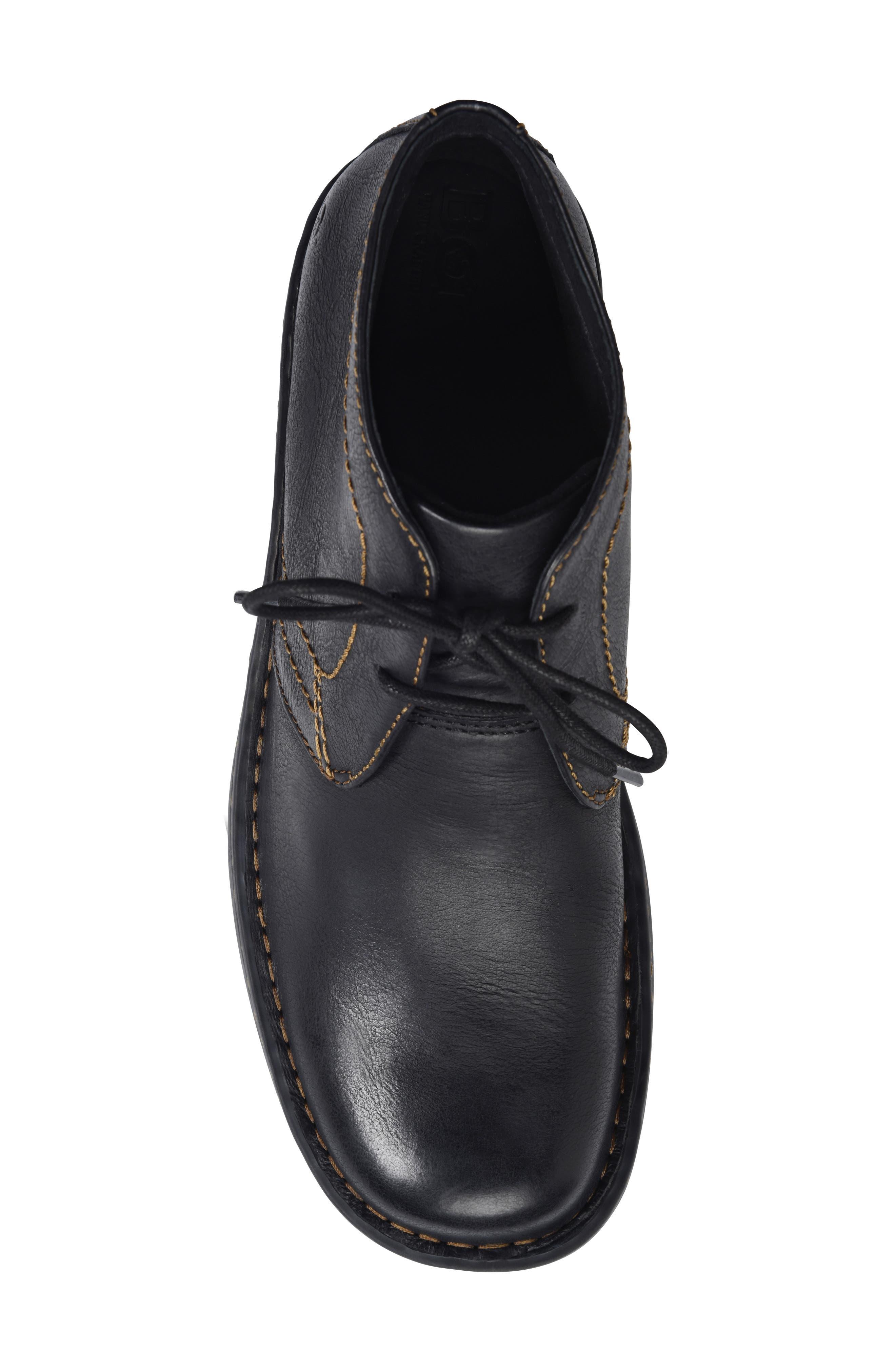 'Harrison' Chukka Boot,                             Alternate thumbnail 5, color,                             BLACK LEATHER