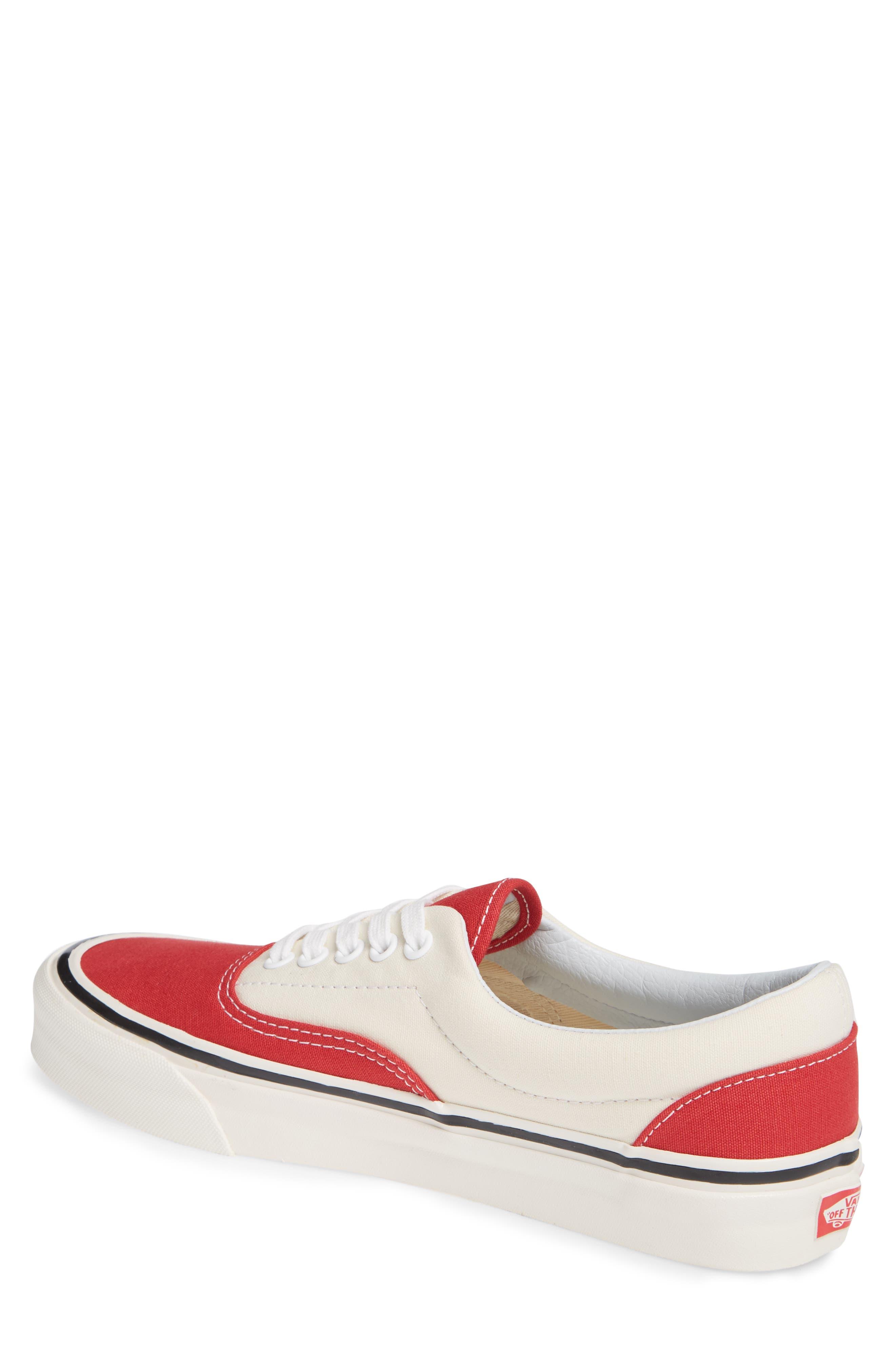 Anaheim Factory Era 95 DX Sneaker,                             Alternate thumbnail 2, color,                             OG RED/ OG WHITE CANVAS