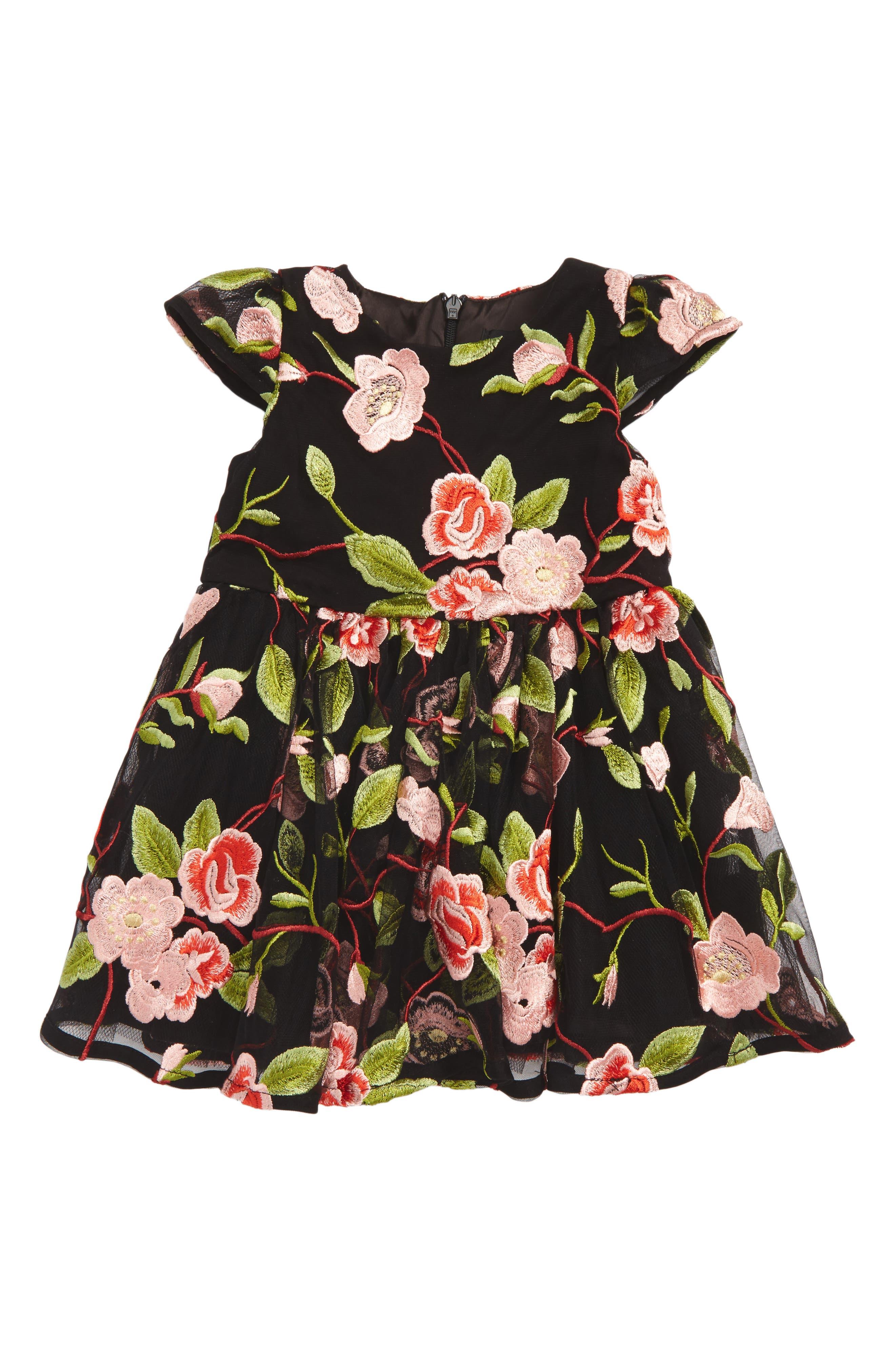 Holly Floral Dress,                             Main thumbnail 1, color,                             001
