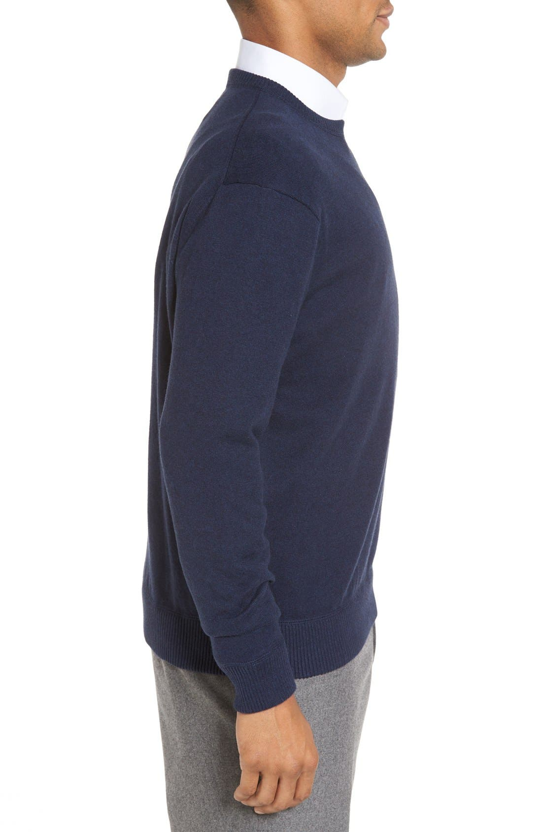 'Jersey Sport' Cotton Blend Crewneck Sweater,                             Alternate thumbnail 21, color,
