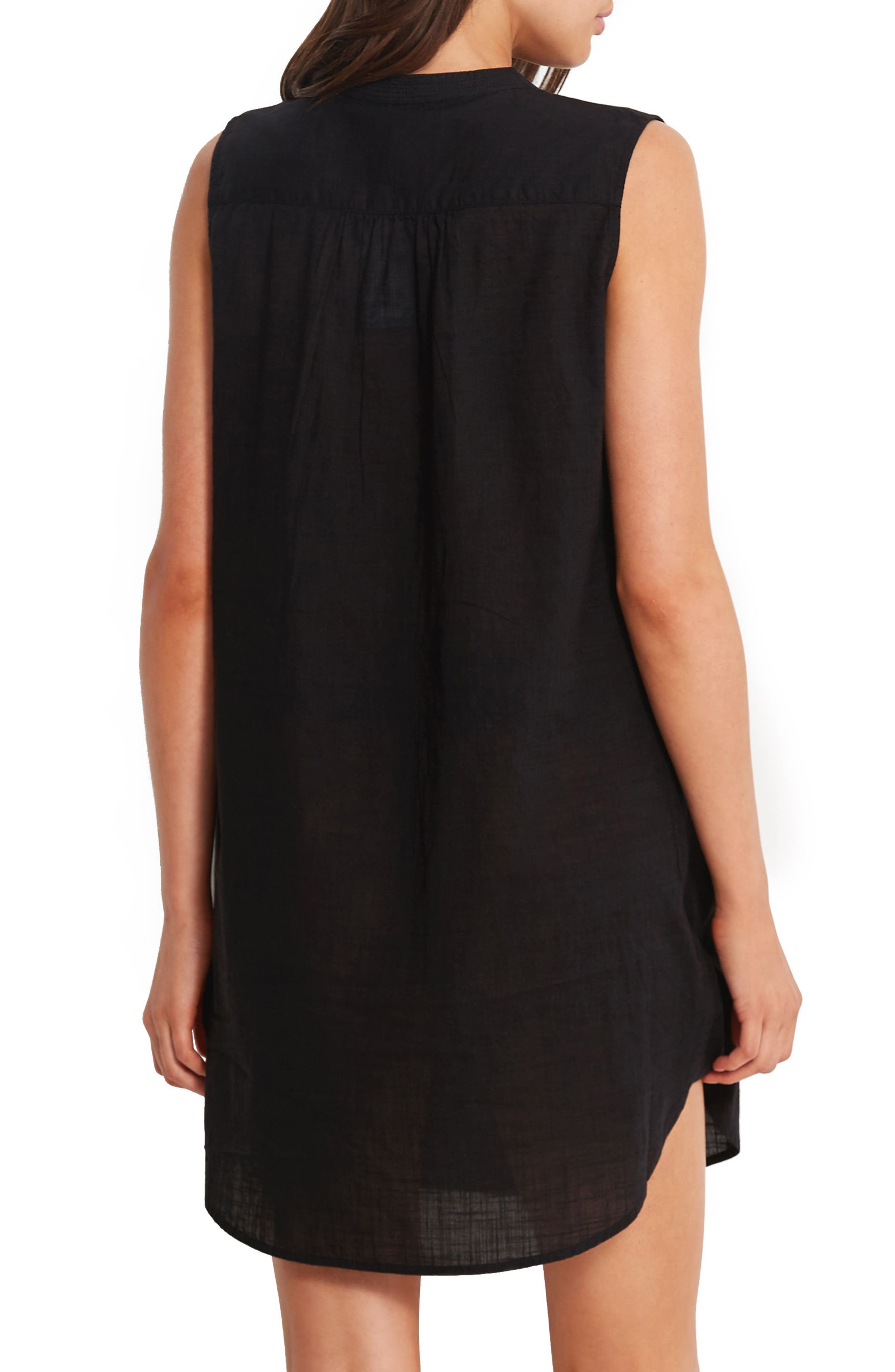 Palm Beach Cover-Up Dress,                             Alternate thumbnail 2, color,                             001