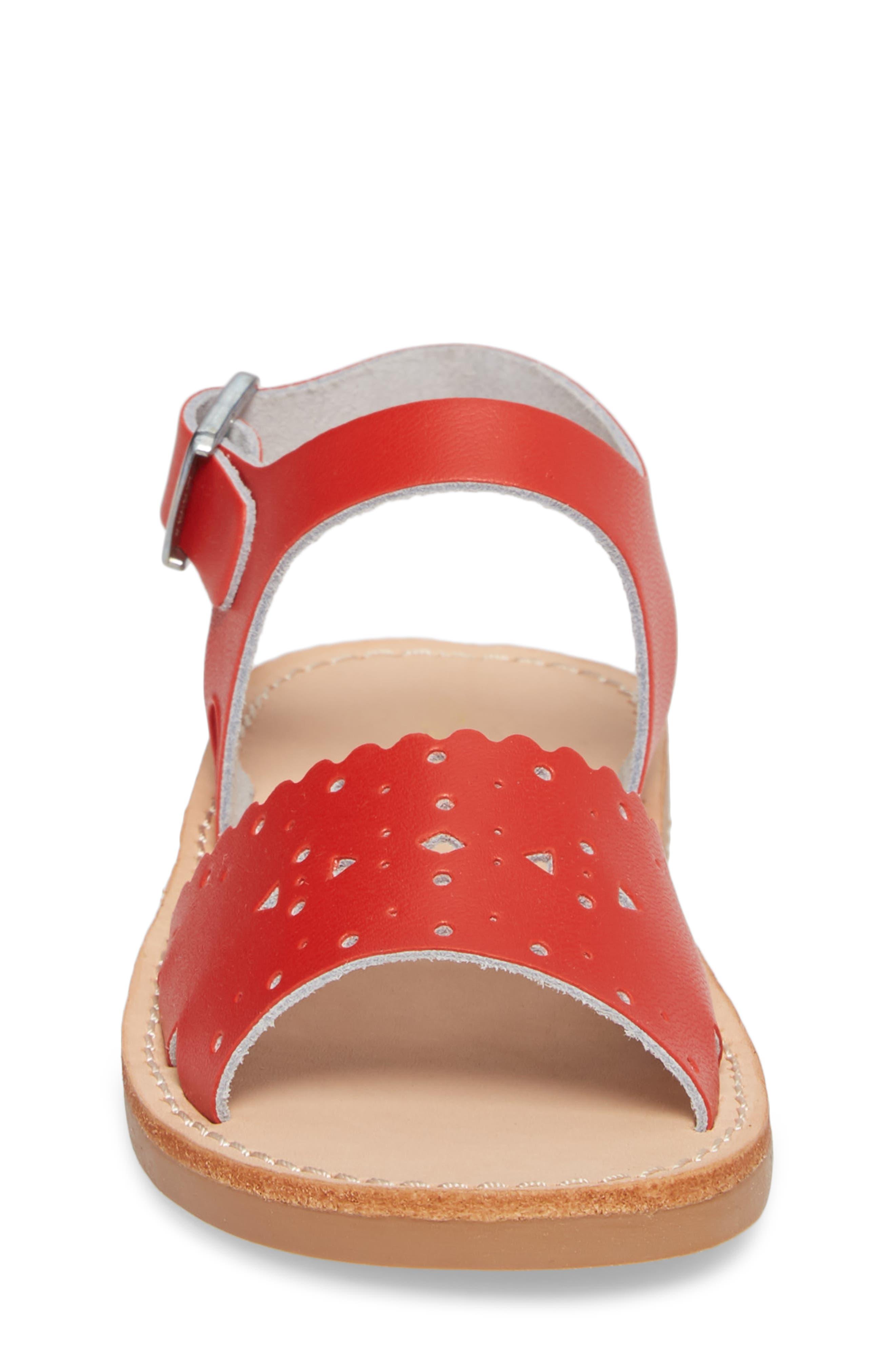 Laguna Water Resistant Perforated Sandal,                             Alternate thumbnail 4, color,                             CHERRY